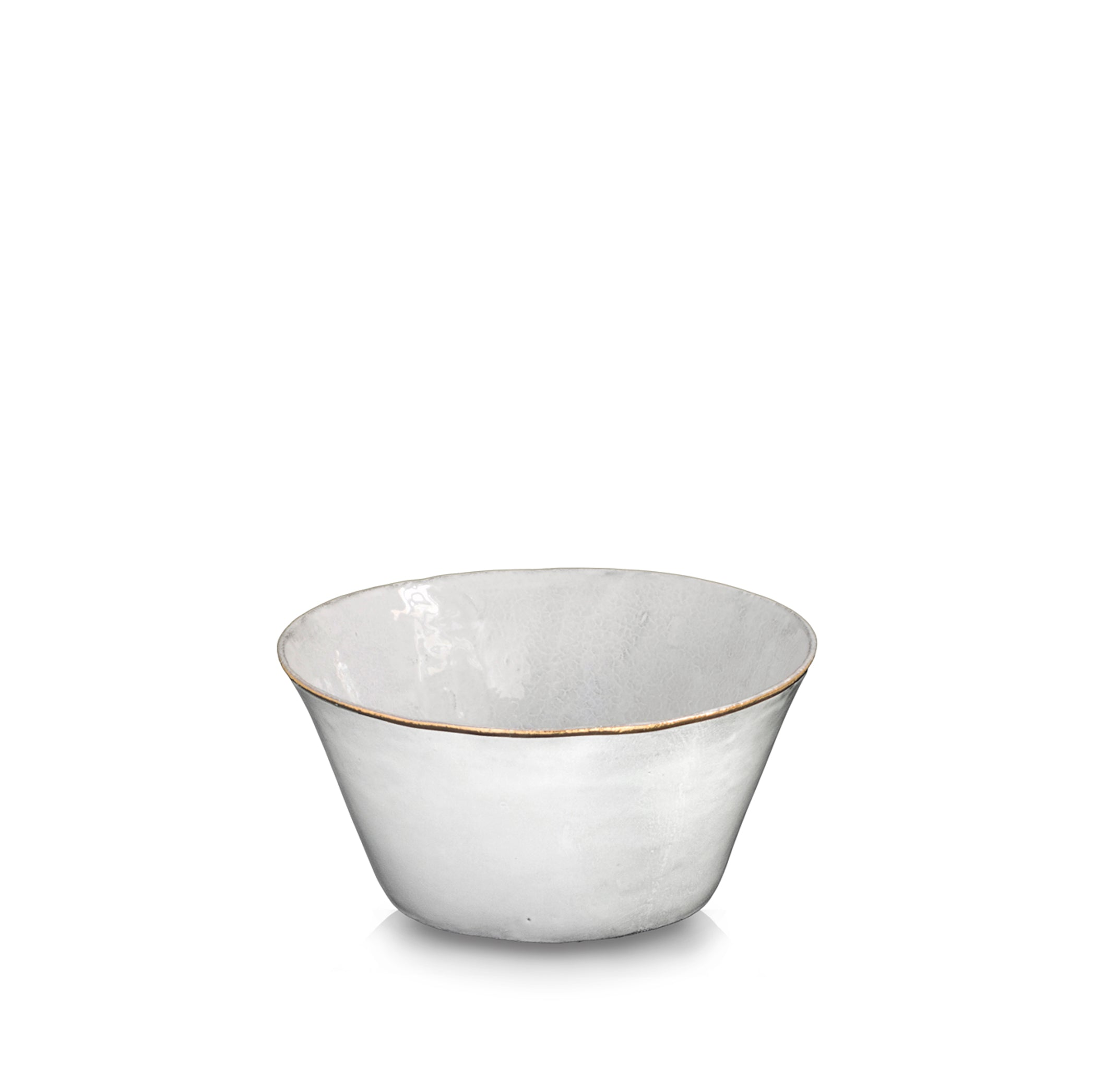 Crésus Salad Bowl with Gold Rim by Astier de Villatte