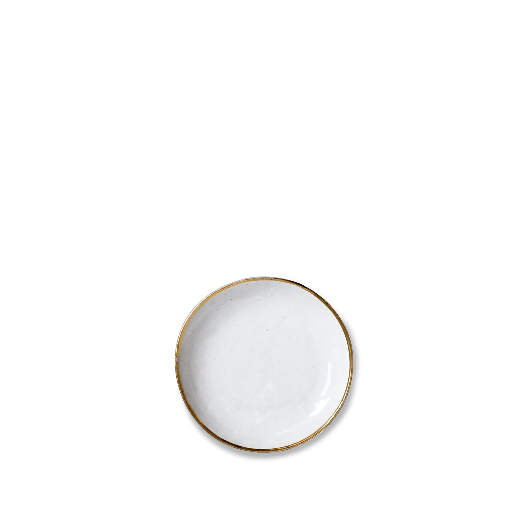 Crésus Side Plate with Gold Rim by Astier de Villatte