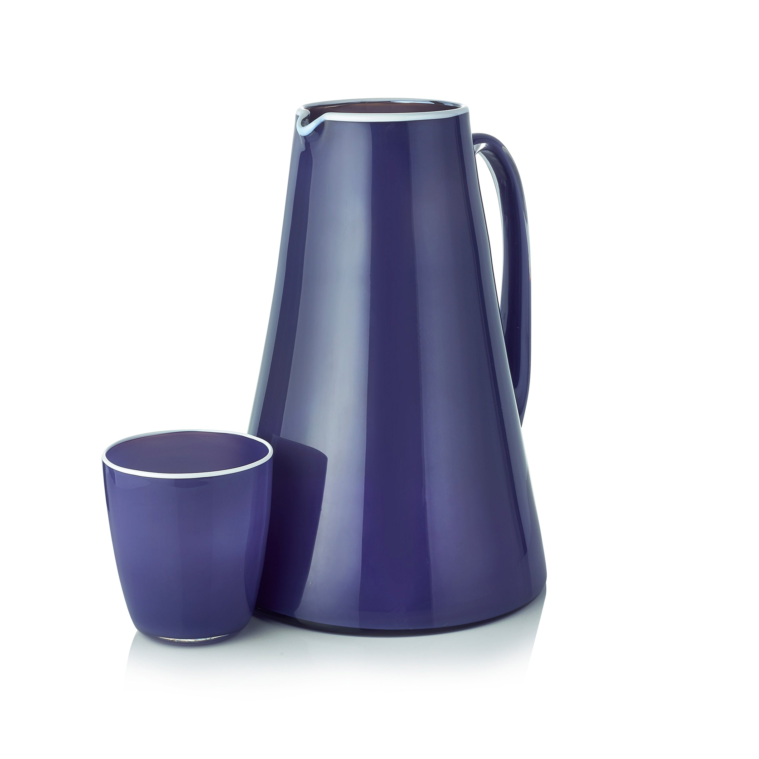Handblown Bumba Jug in Purple