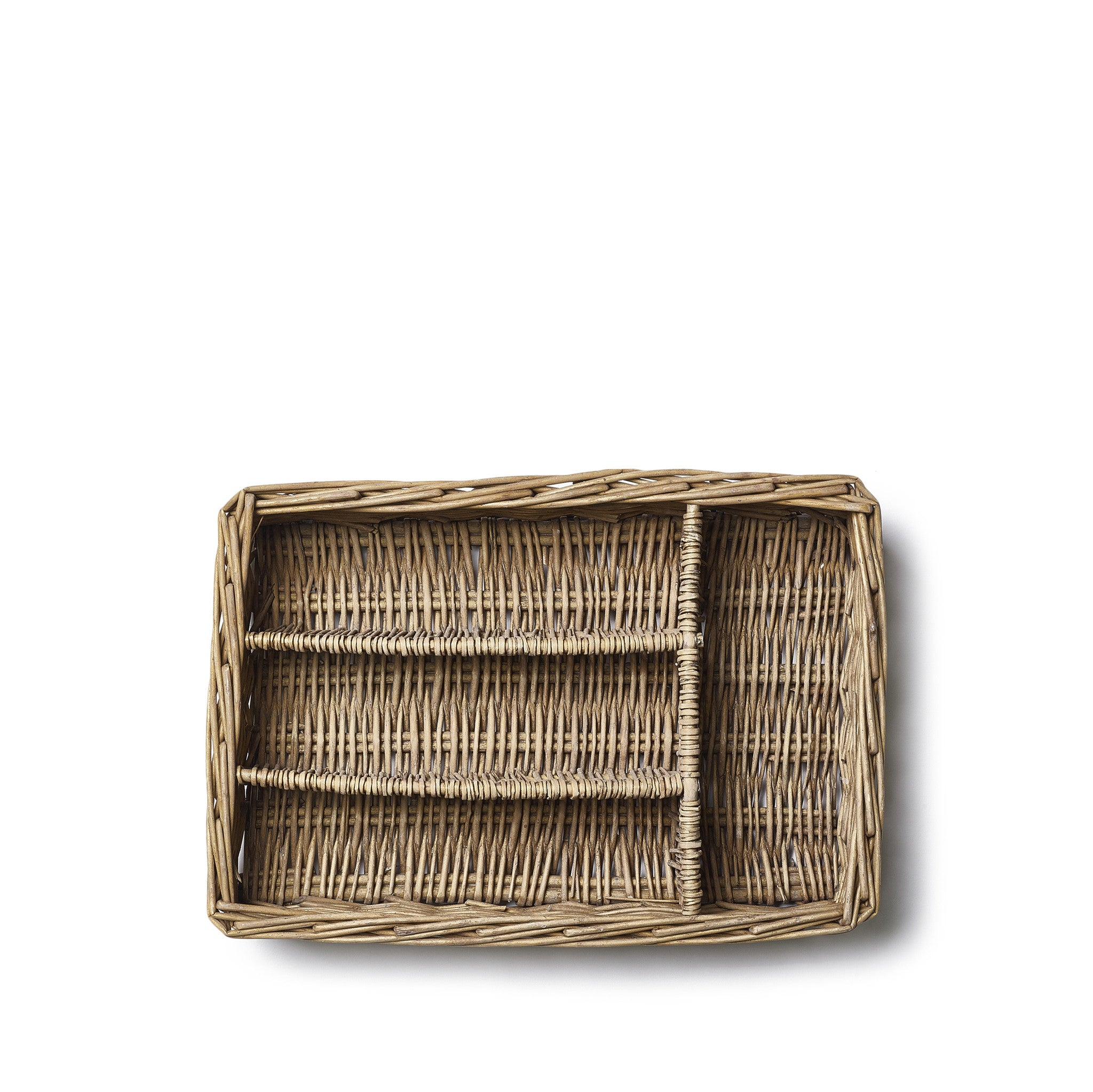 Willow Cutlery Tray in Brown