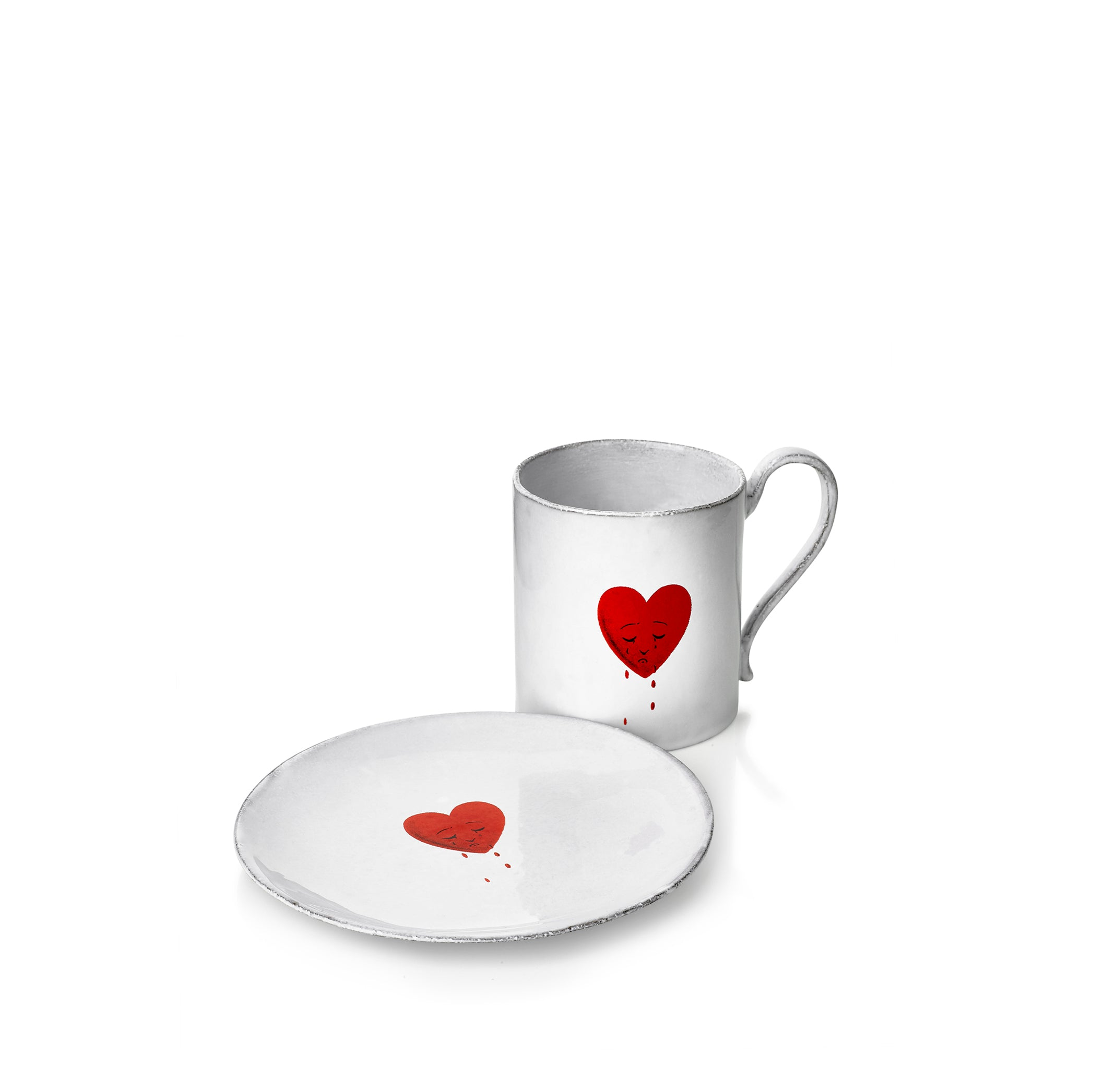 Crying Heart Saucer by Astier de Villatte