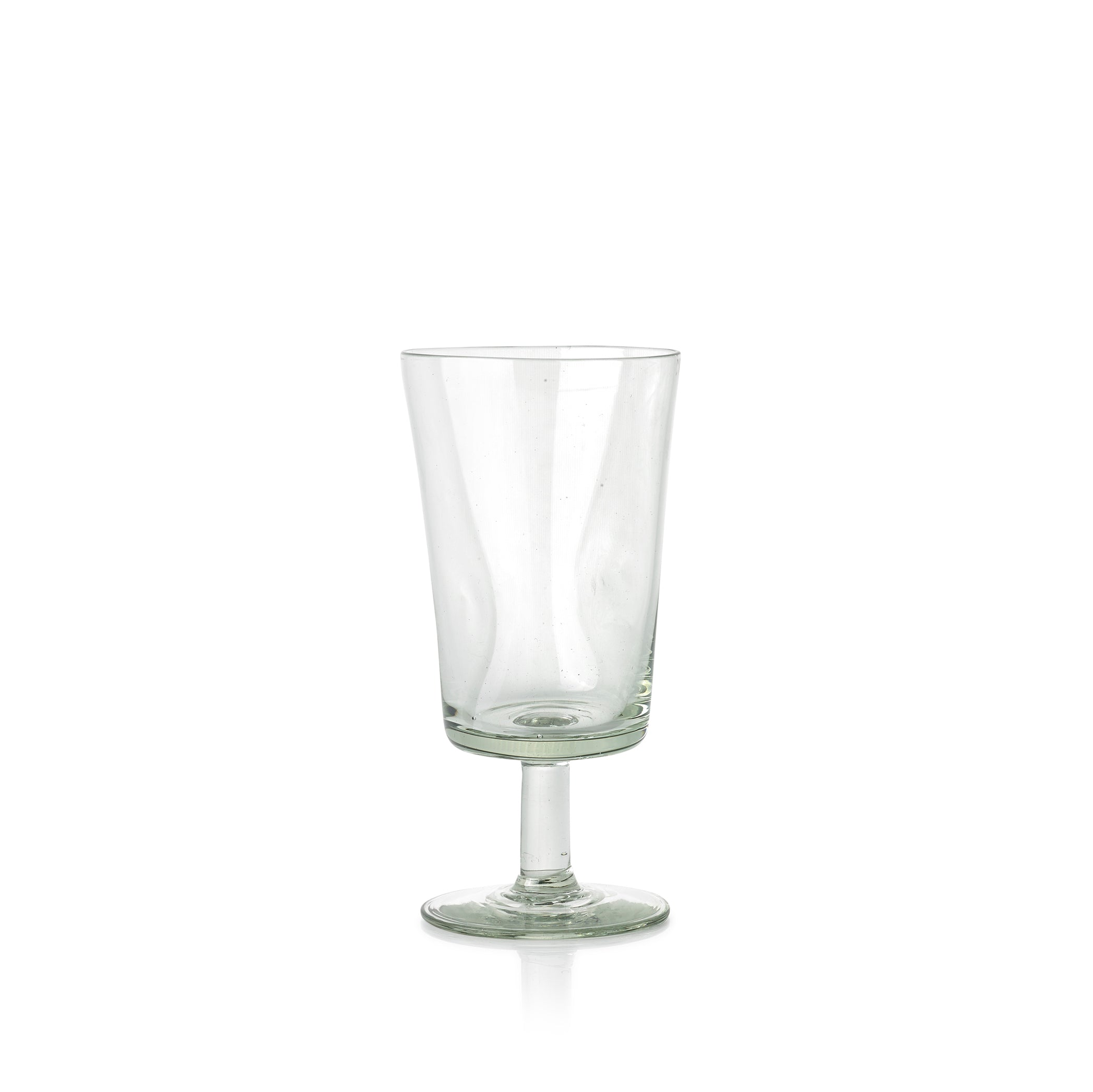 Handblown Dented White Wine Glass from Kingdom of Swaziland