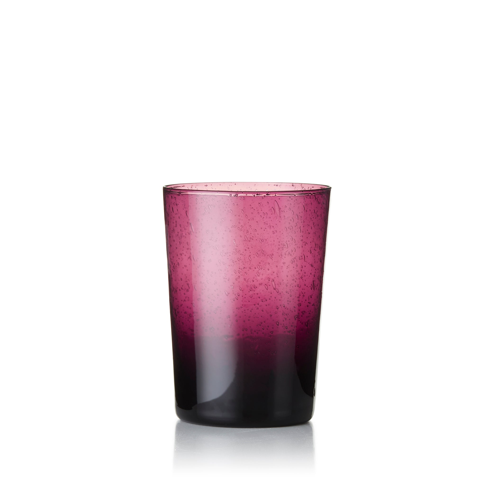 Handmade Glass Tumbler in Purple