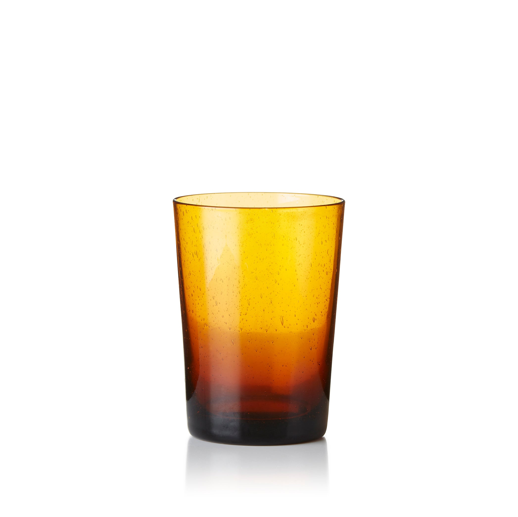 Handmade Glass Tumbler in Amber