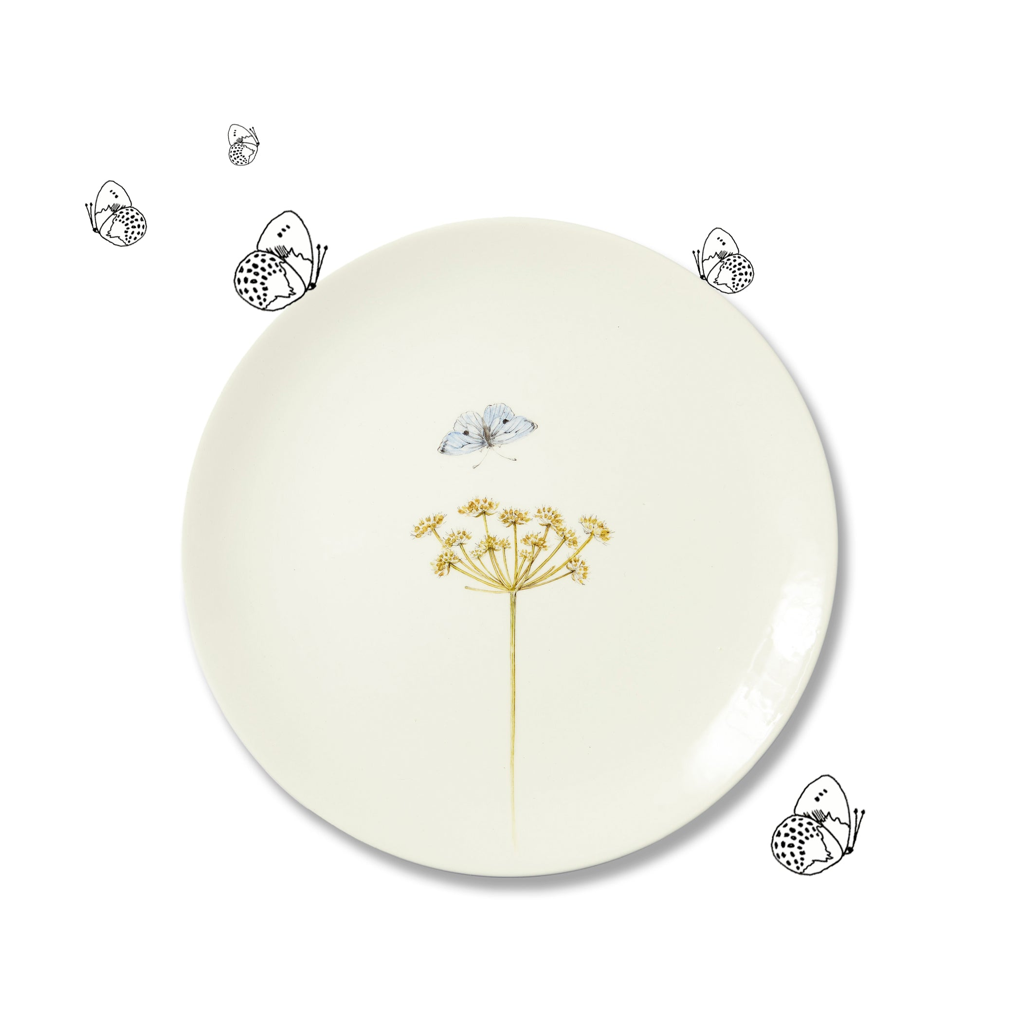 Bloom Pastinaca Satvia Dinner Plate, 25cm