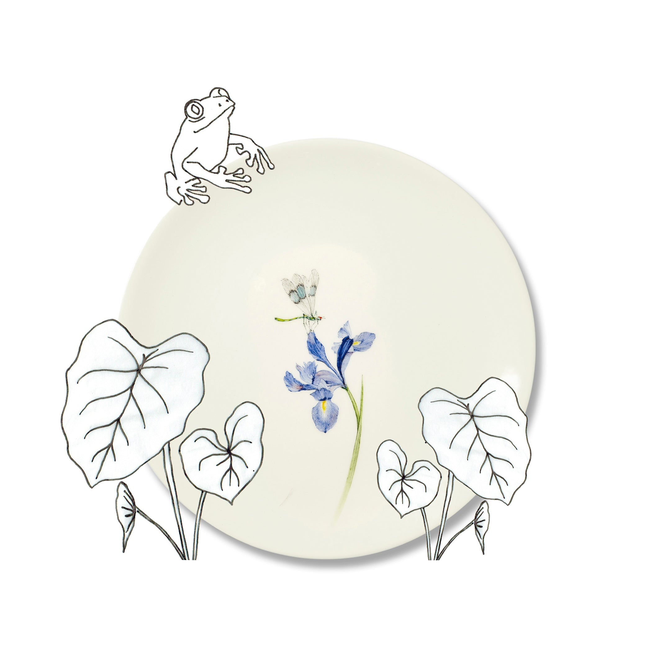 Bloom Iris Dinner Plate, 25cm