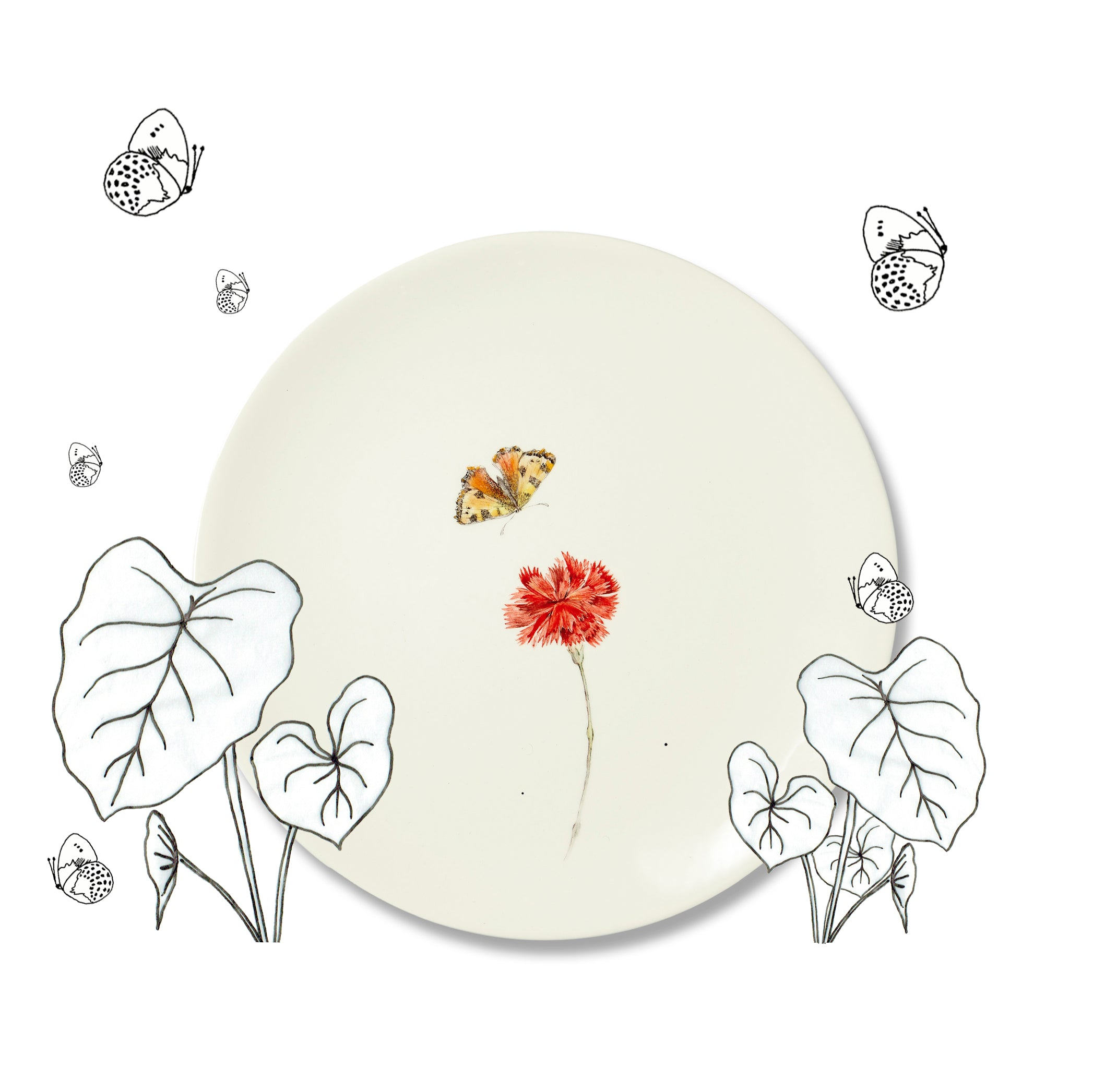 Bloom Carnation Dinner Plate, 25cm