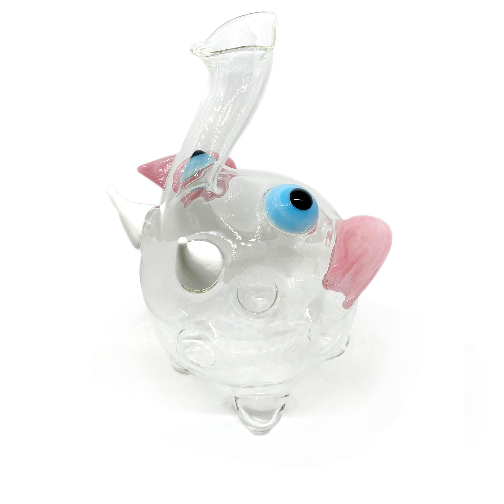 Handblown Glass Dumbo Decanter