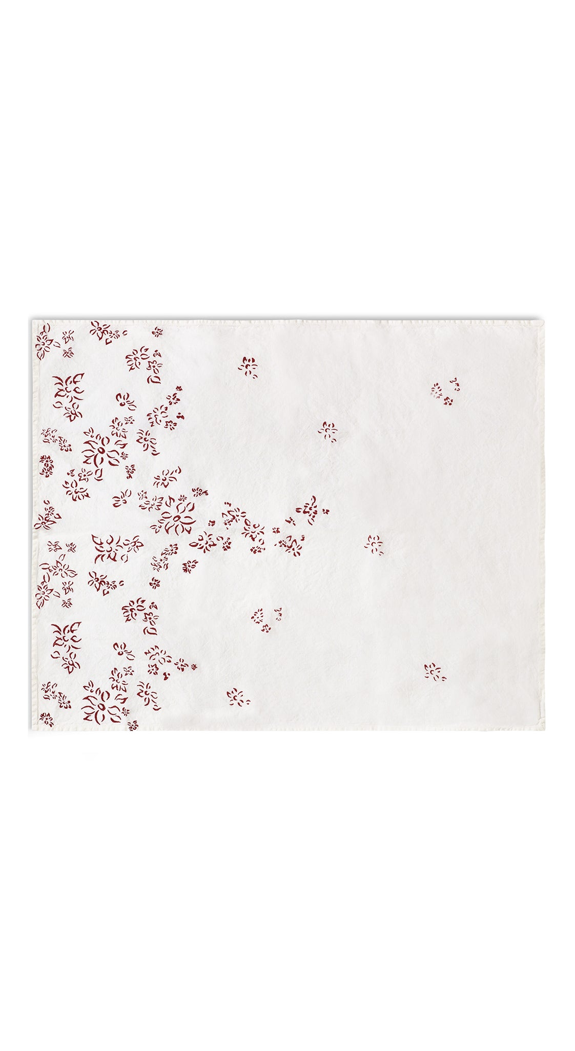 Bernadette's Falling Flower Linen Tea Towel in Claret Red