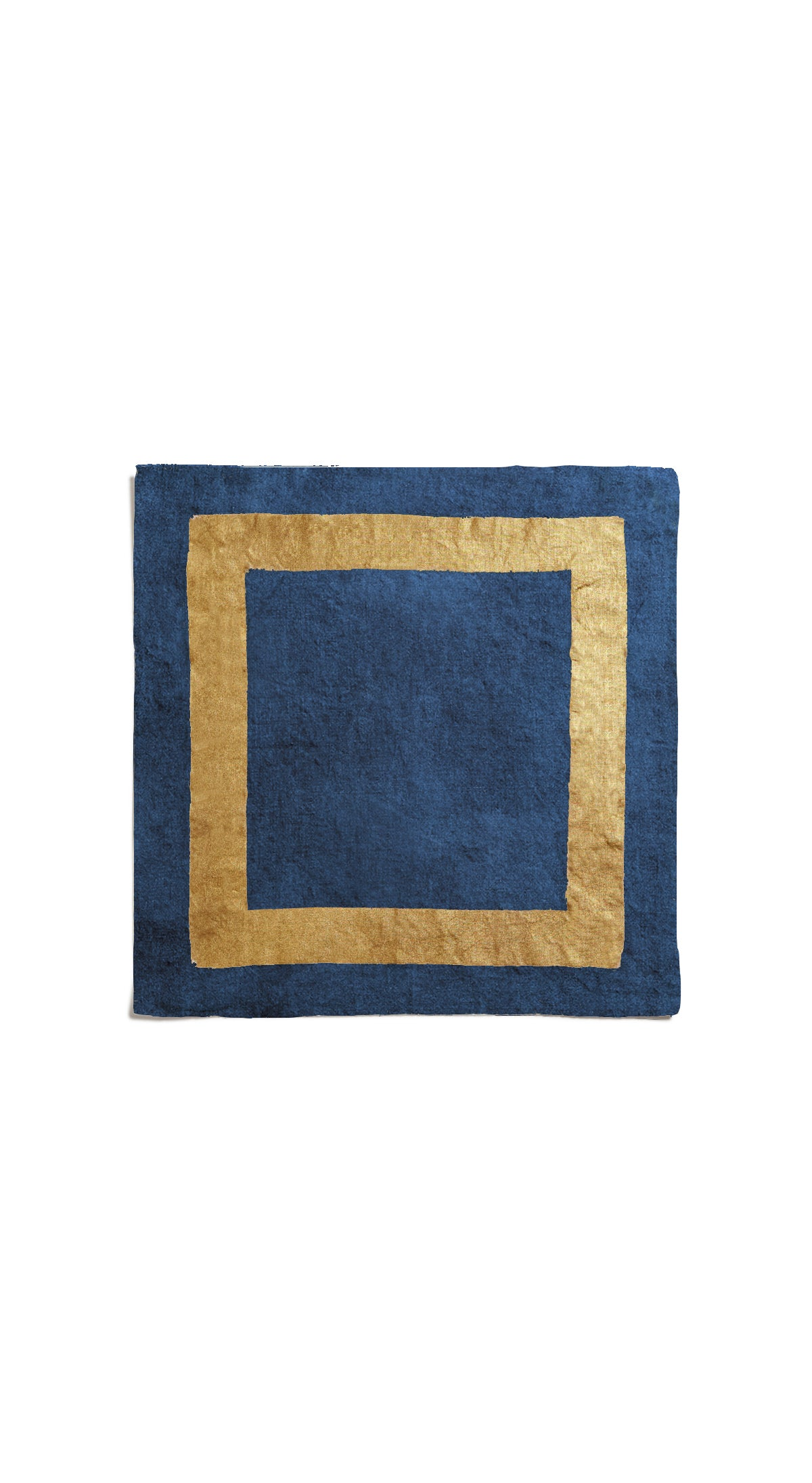 Full Field Cornice Linen Napkin in Midnight Blue & Gold