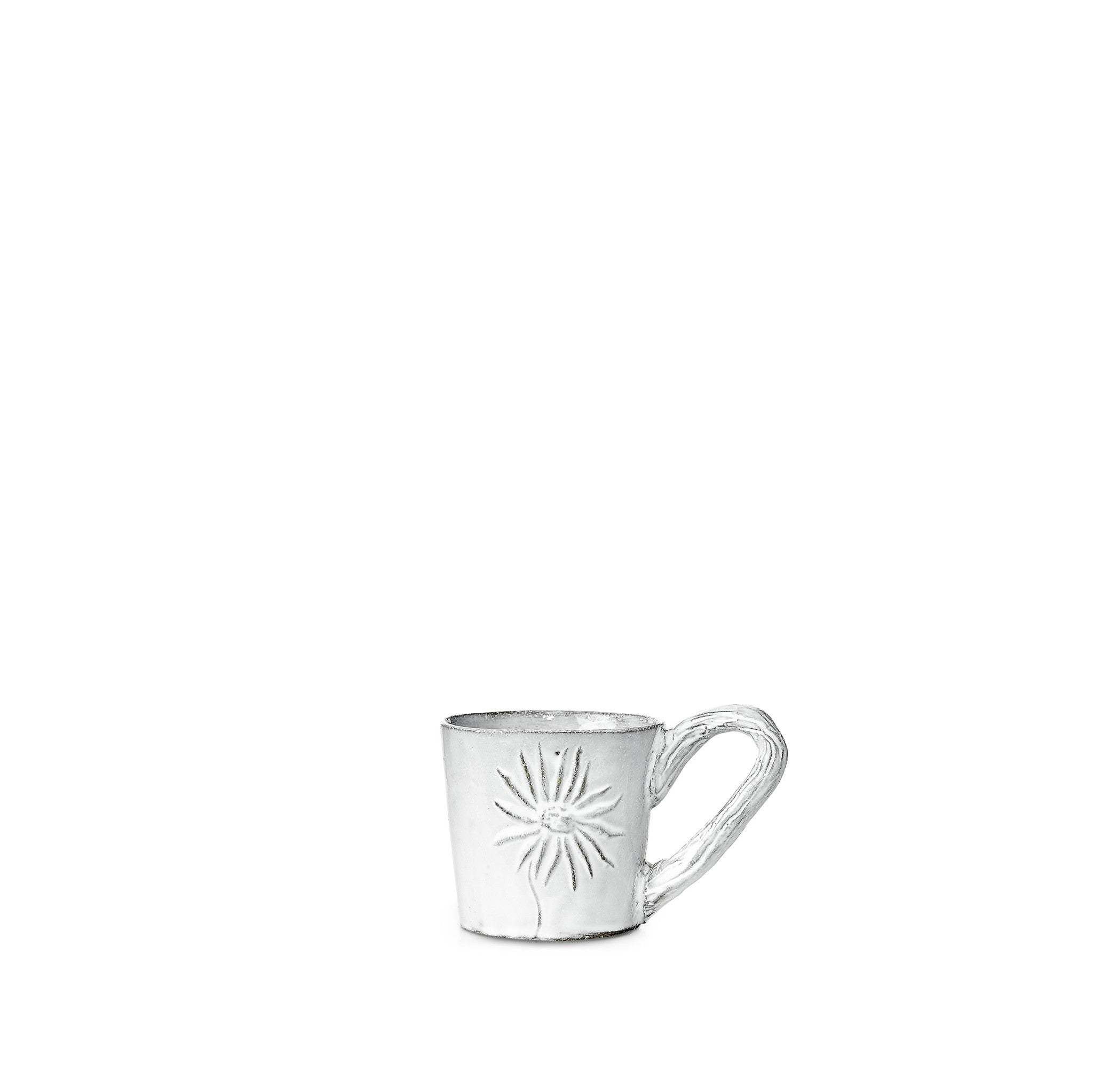 Fleurs Coffee Cup with Small Handle by Astier de Villatte