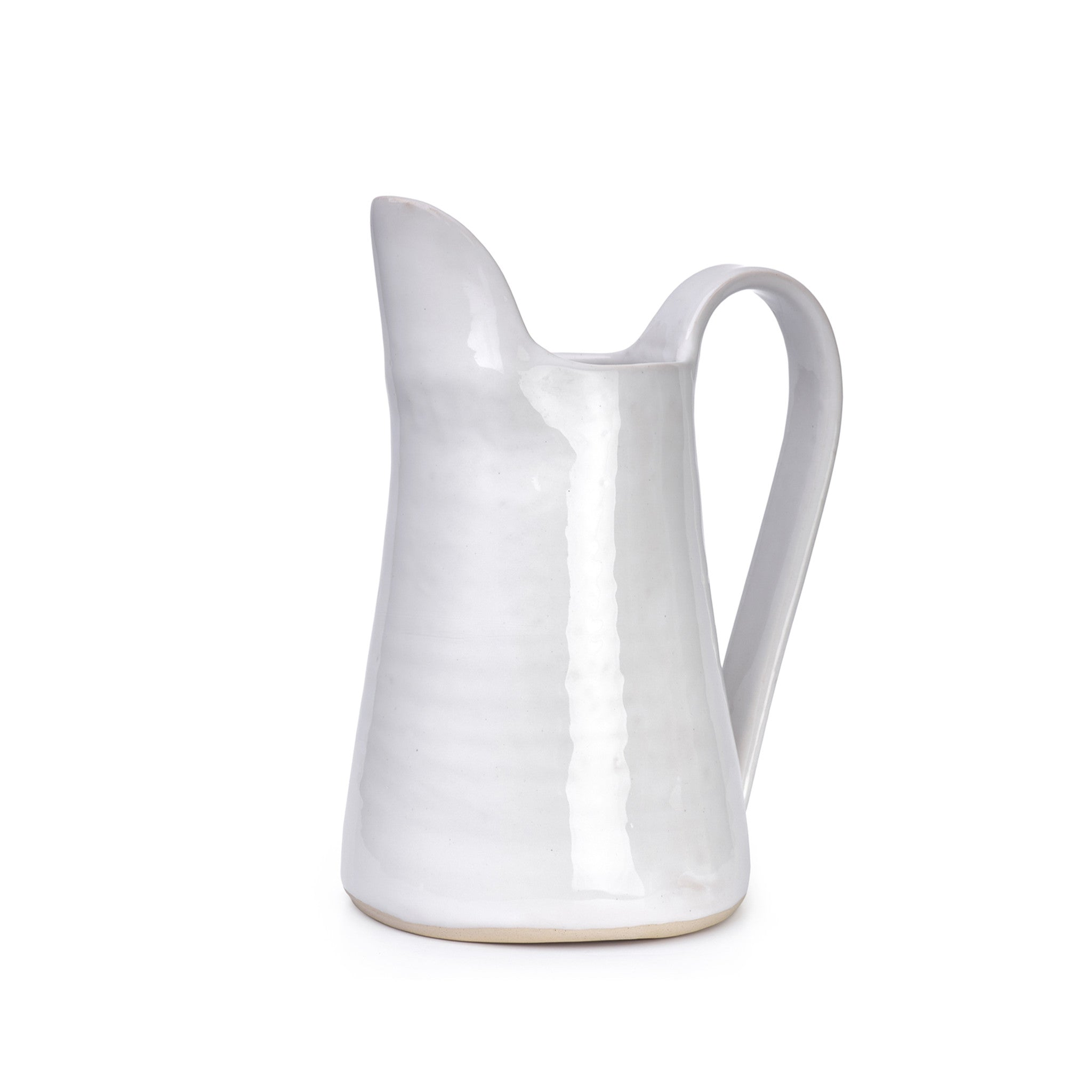 Wonki Ware Large Fluted Jug in White