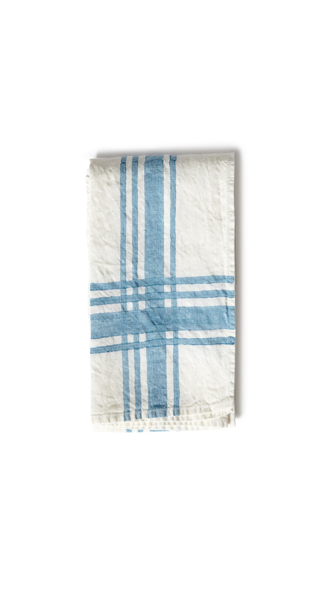 Stripe Linen Tea Towel in Sky Blue