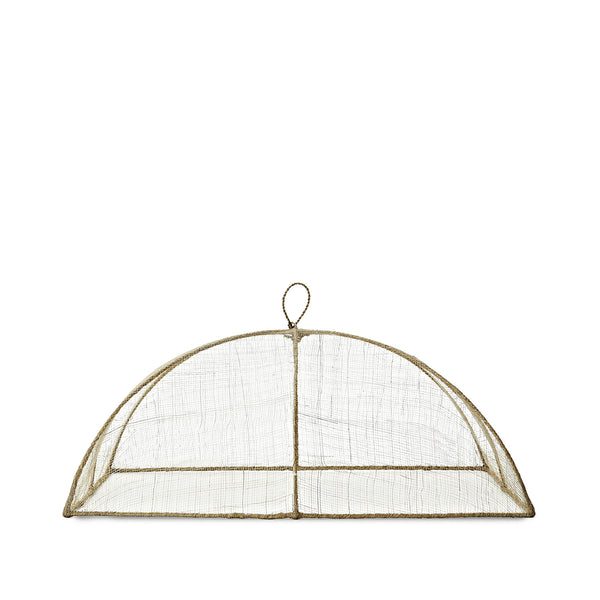 Linen Food Cover in Cream, Medium