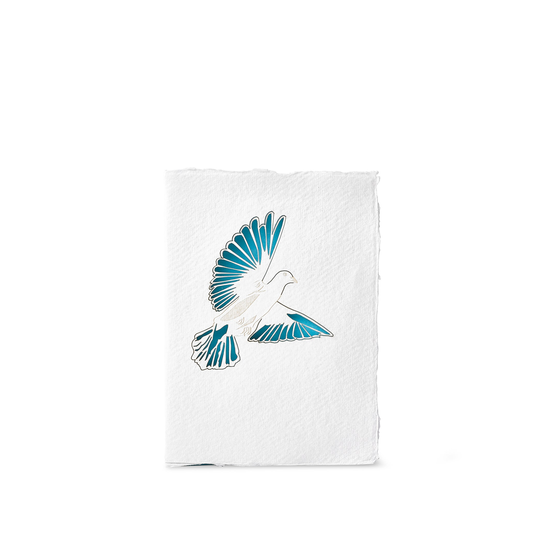 Handmade Paper Greeting Card with Dove