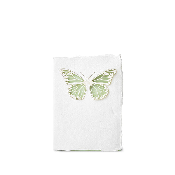 Handmade Paper Greeting Card with Butterfly