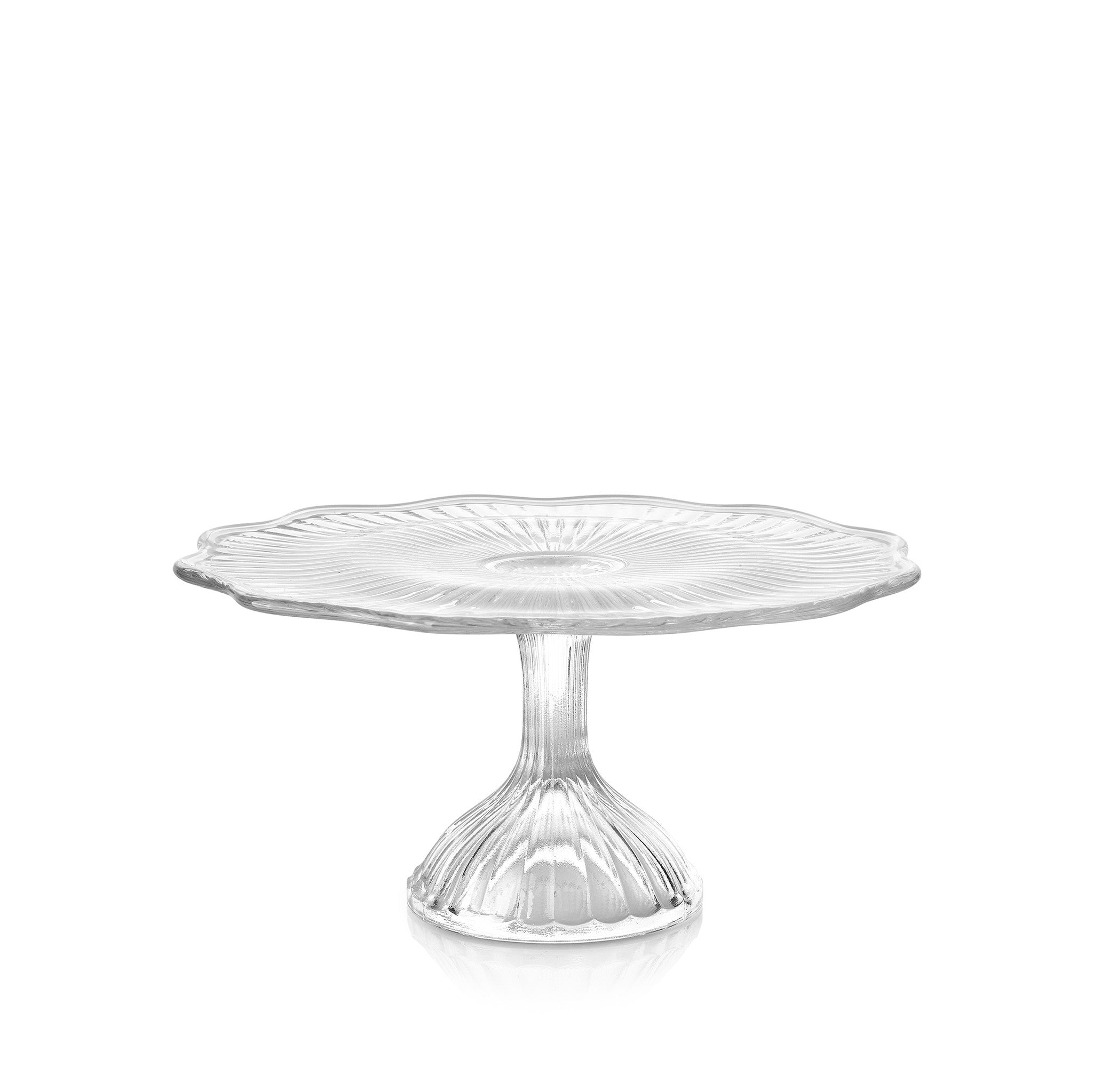 Engraved Glass Cake Stand