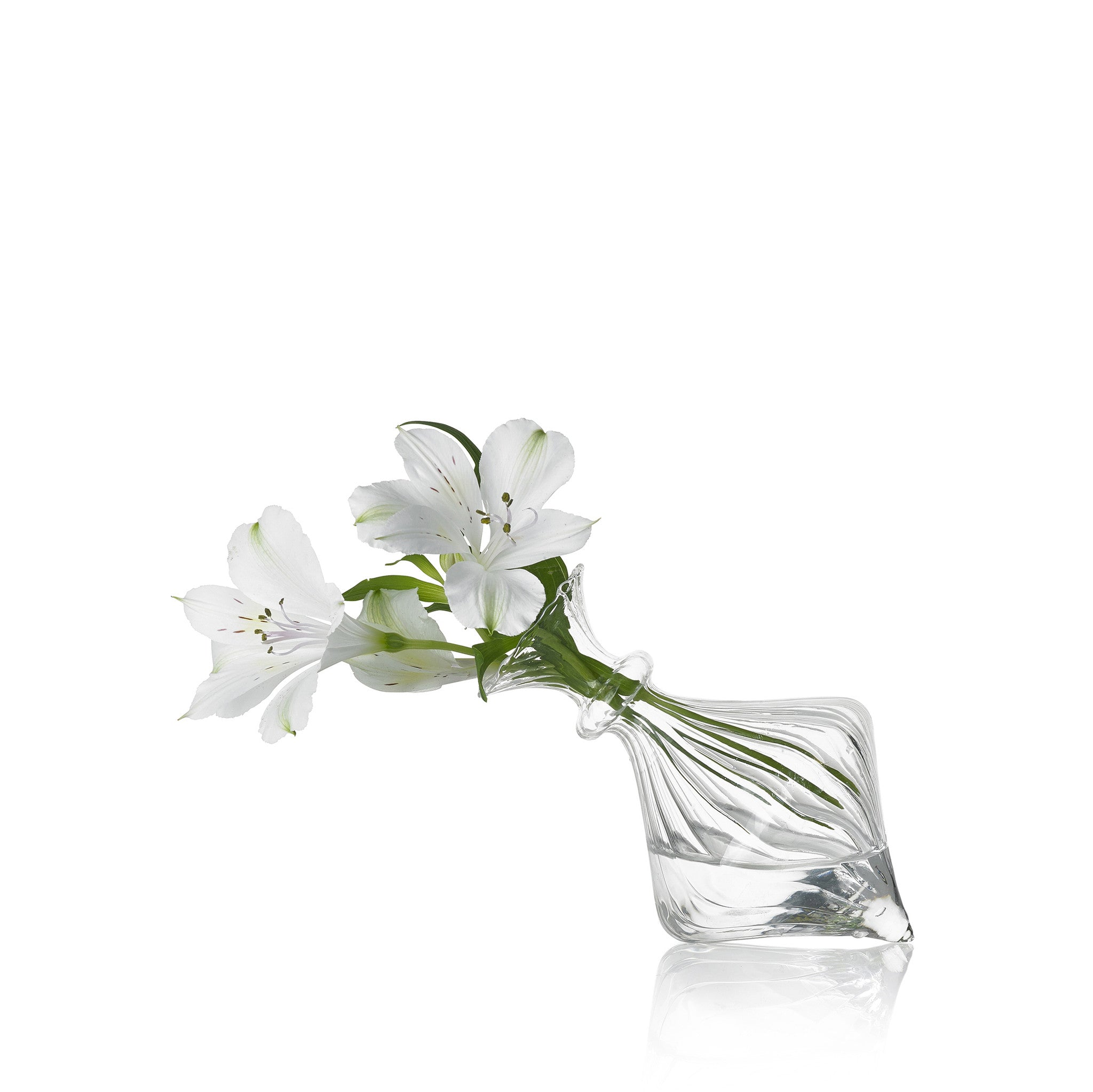 Set of Two Glass Flower Vases Without Foot - Mia