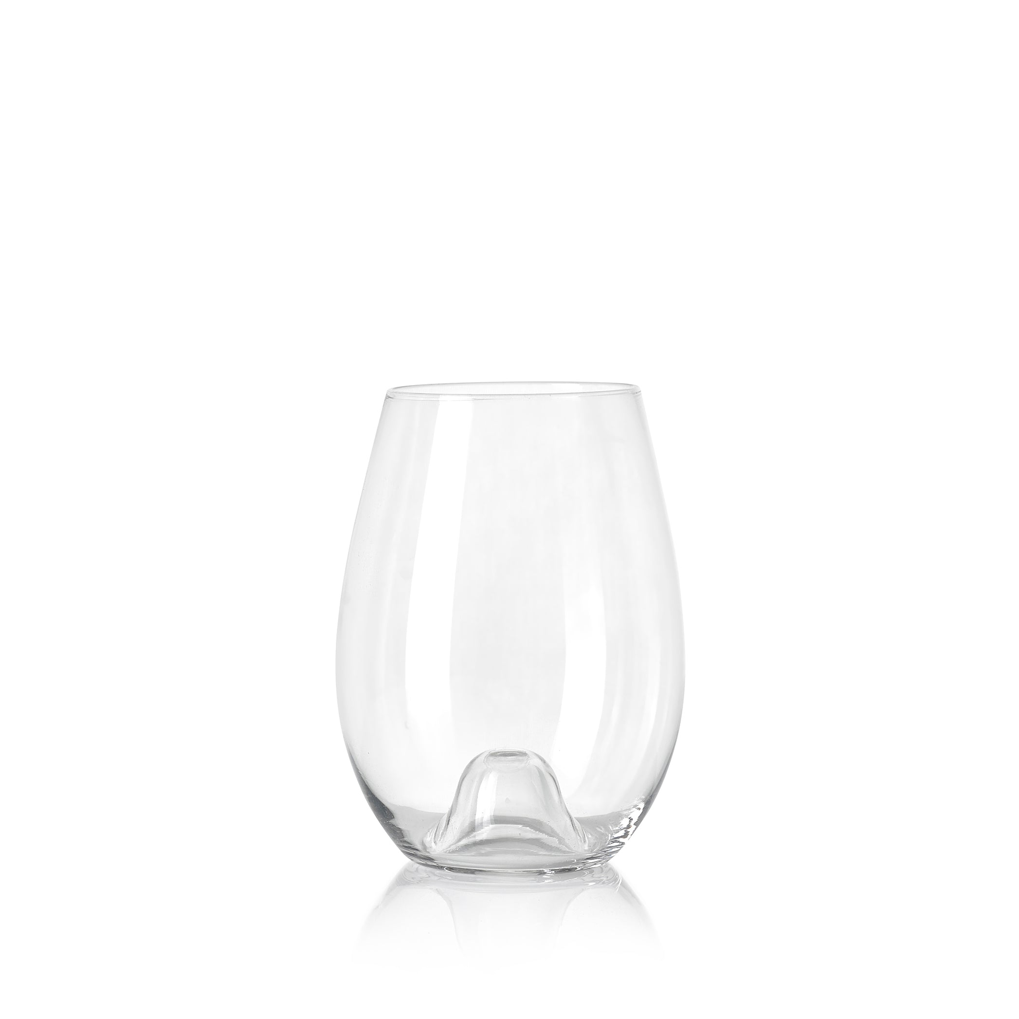 Handblown Clear Glass Tumbler