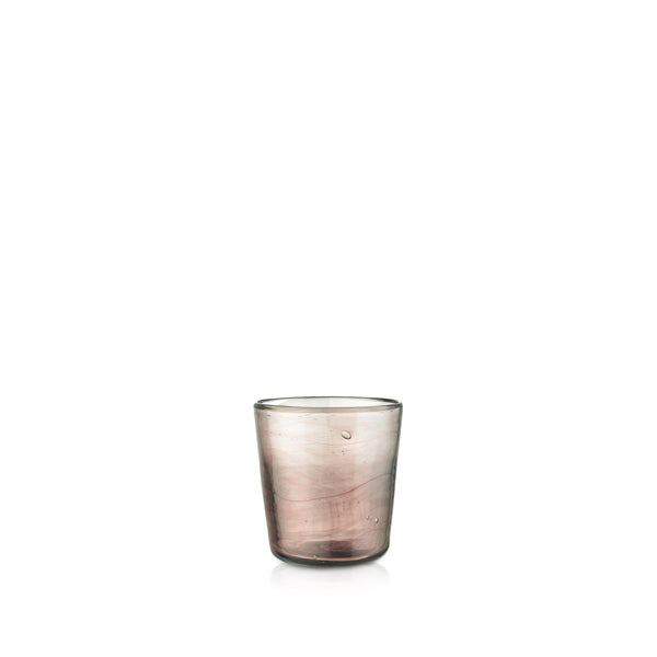 Handblown Glass Votive in Smokey Pink
