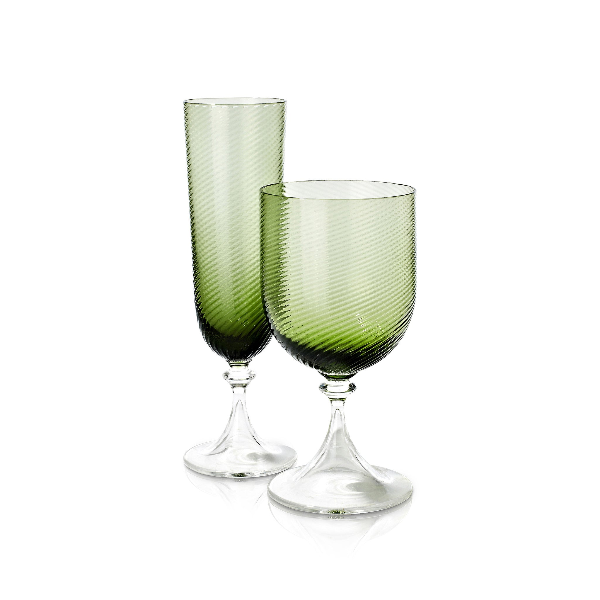 Murano Wine Glass in Green