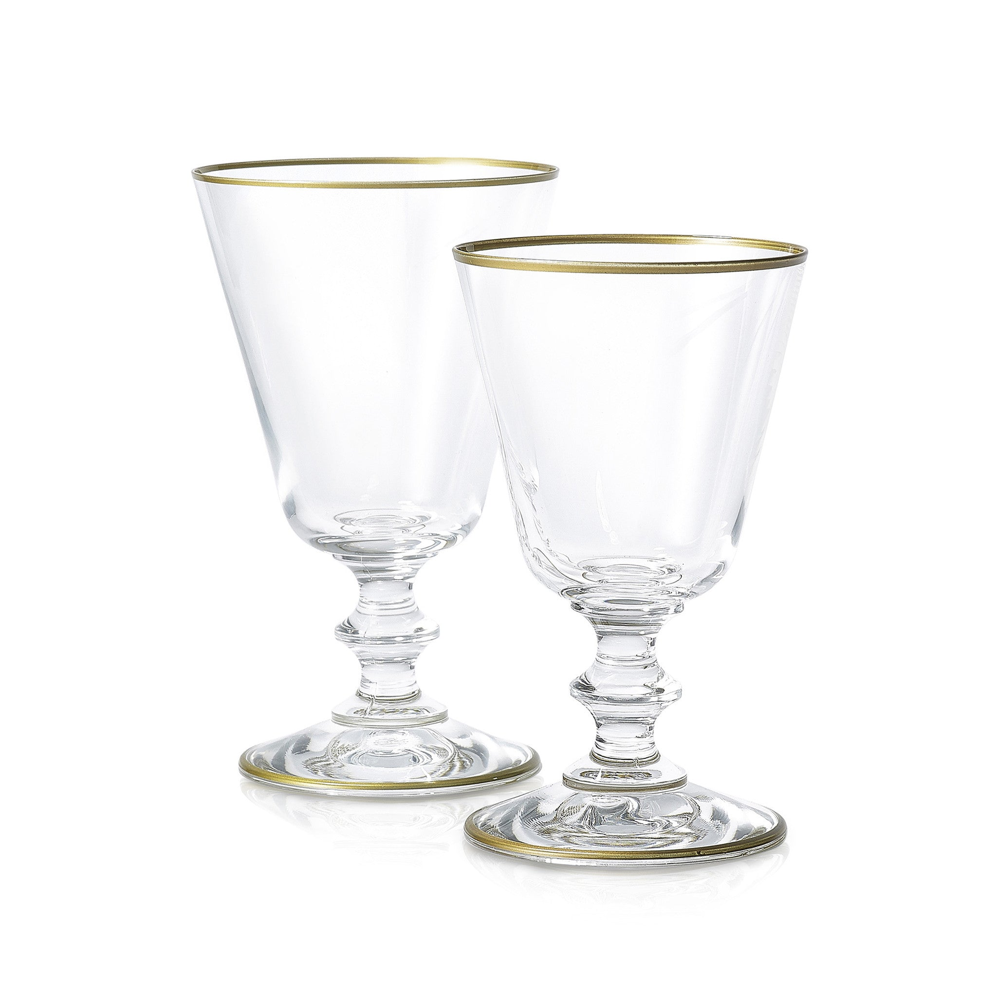 S&B Classic White Wine Glass With Gold Rim, 19cl