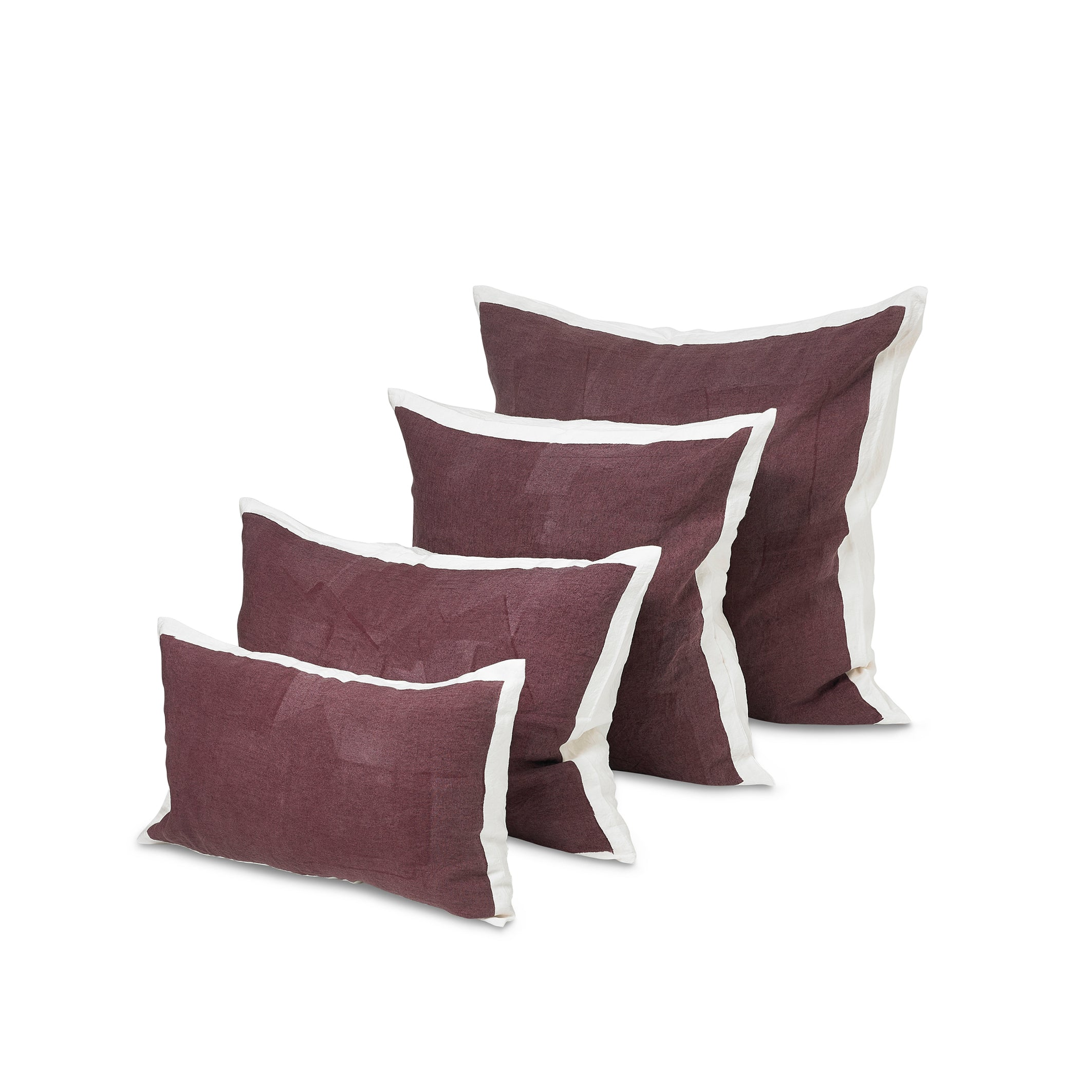 Hand Painted Linen Cushion Cover in Grape, 60cm x 60cm