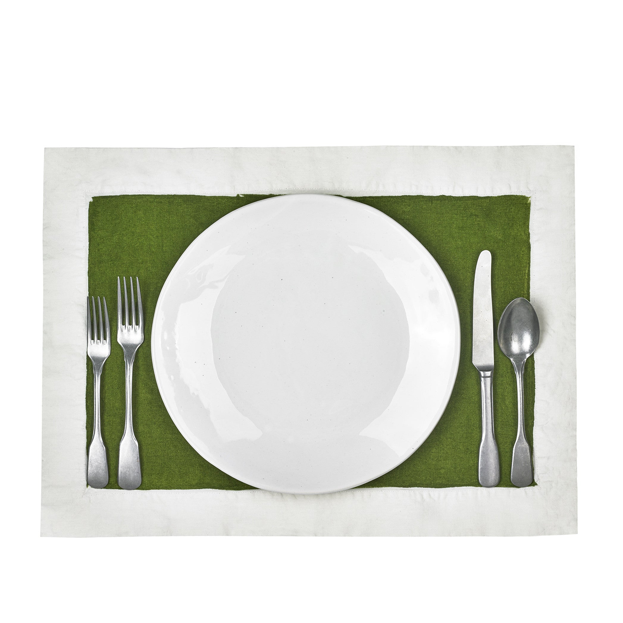 Full Field Linen Placemat in Avocado Green