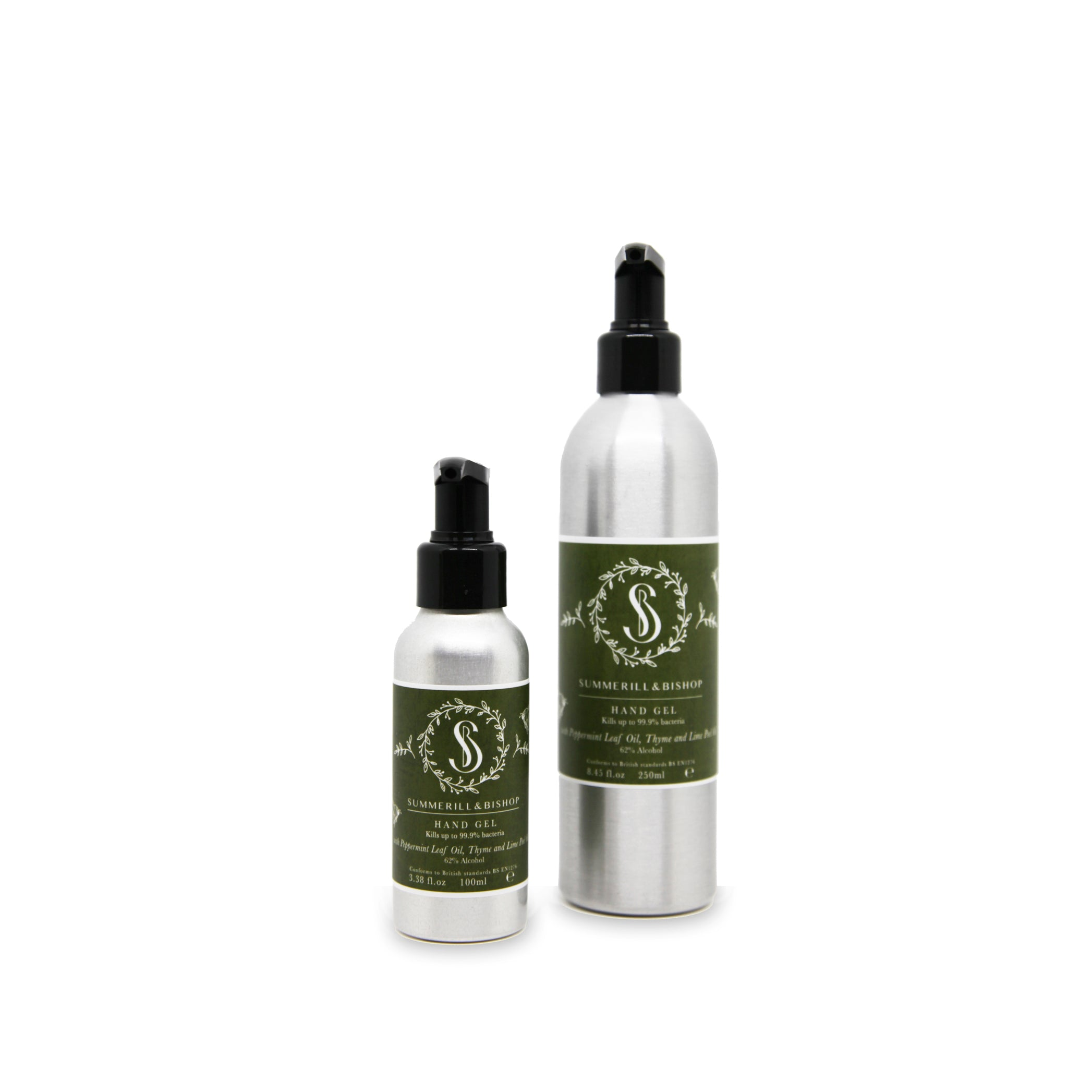 S&B Peppermint Leaf, Thyme & Lime Peel Alcohol Hand Gel 250ml