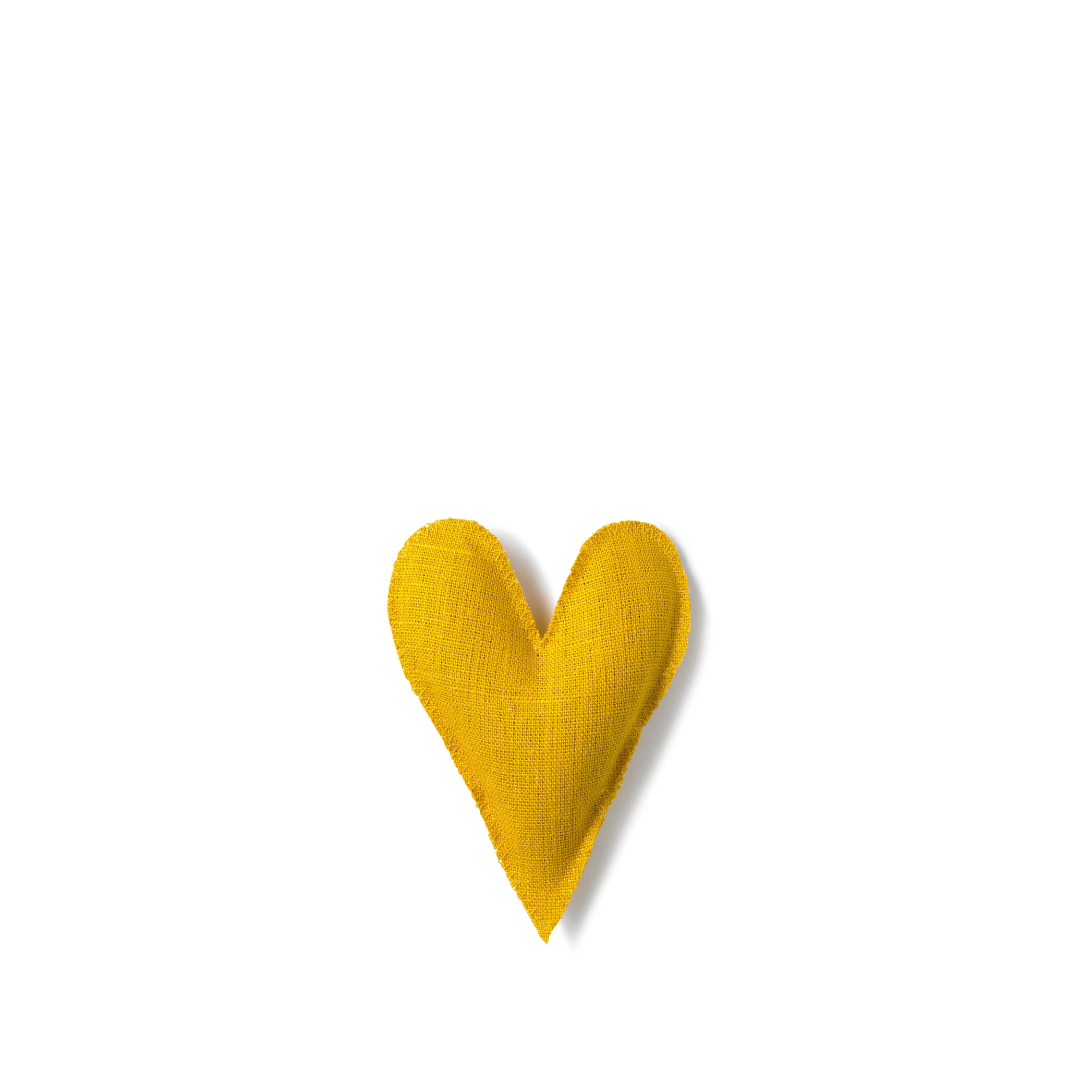 Lavender Heart in Yellow