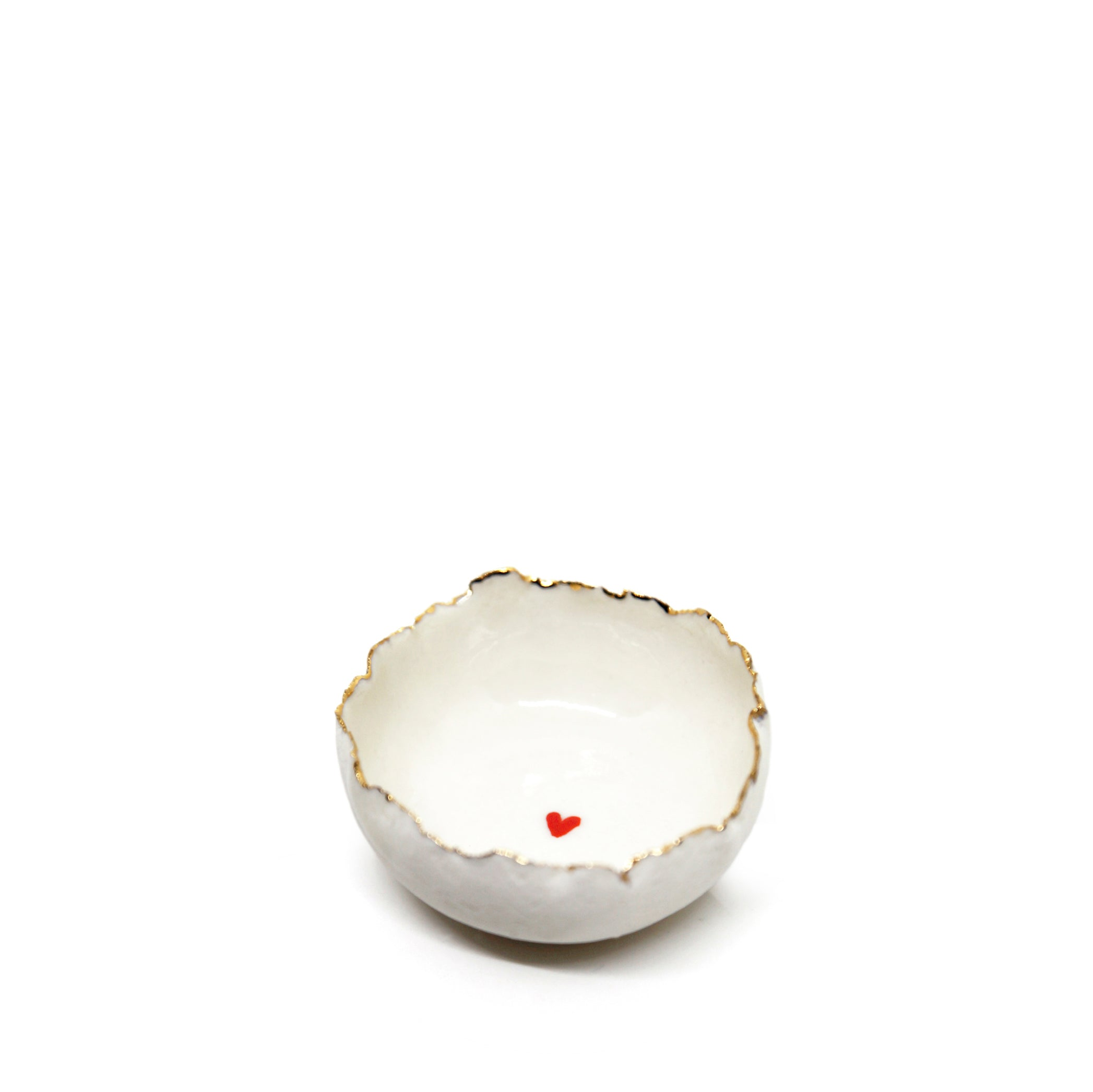 HB Jagged Bowl with Heart, 7cm