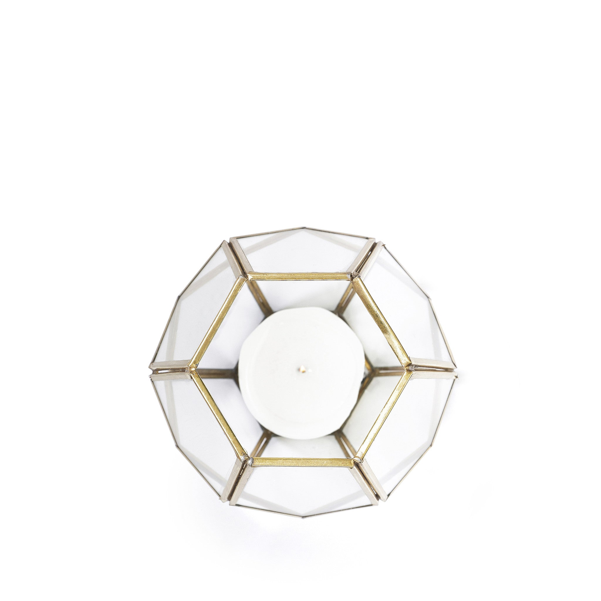 Hexagonal Lantern in Brass