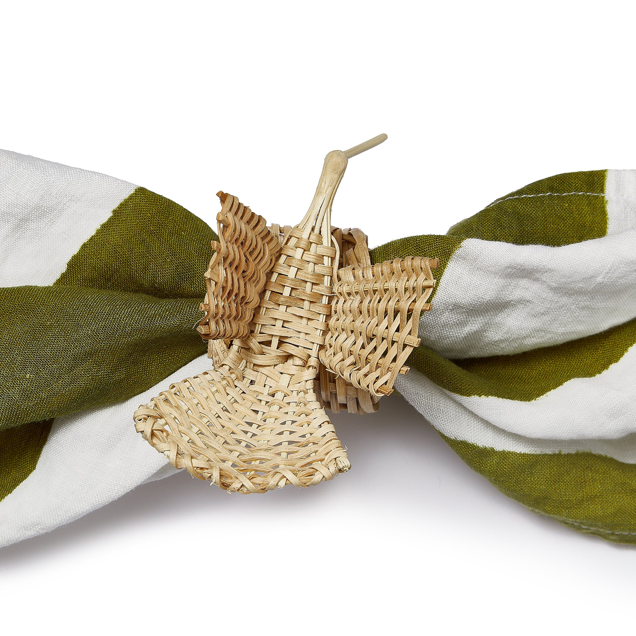 Handwoven Hummingbird Napkin Ring in Natural