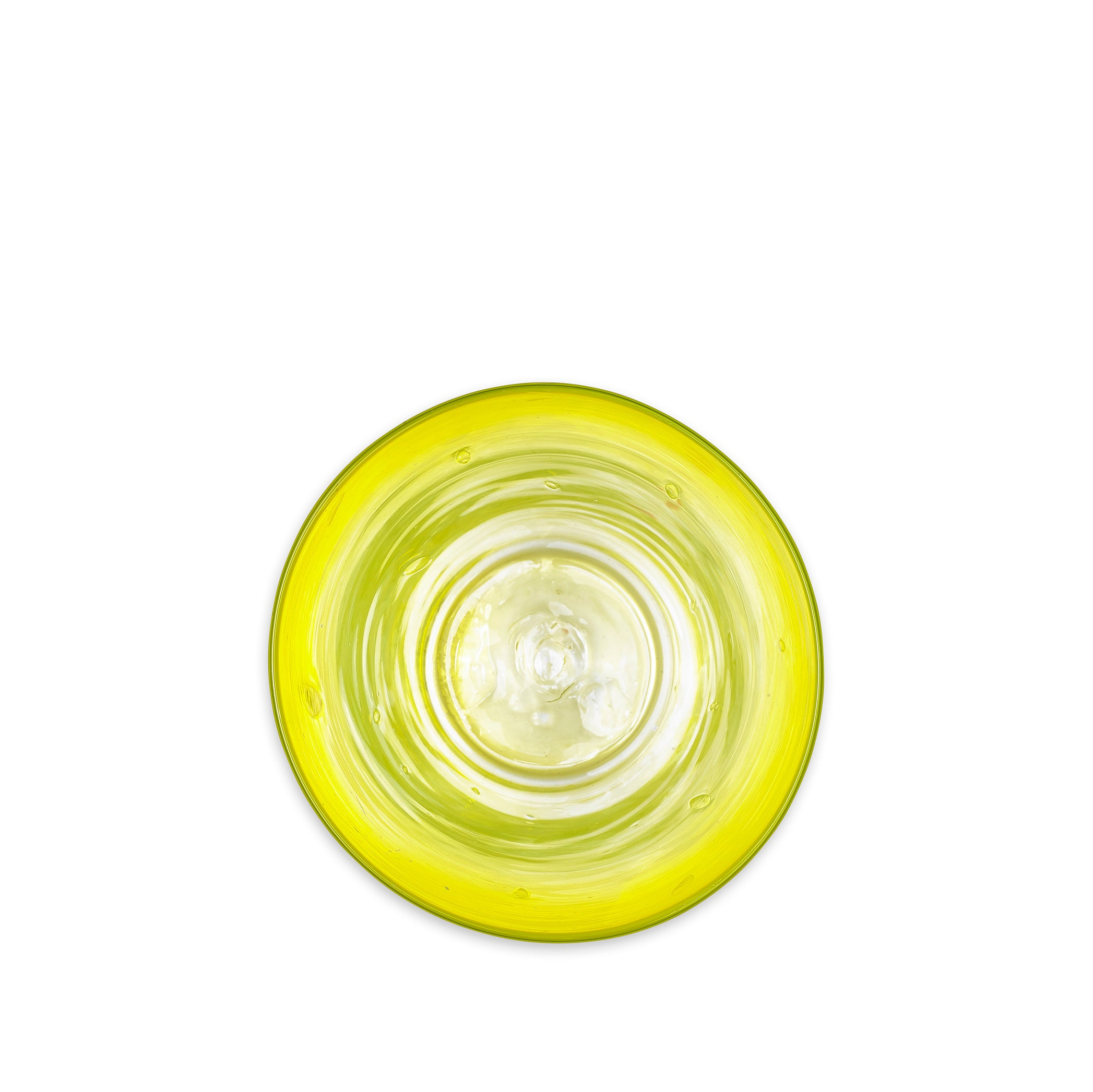 Handblown Glass Vase in Lemon Yellow