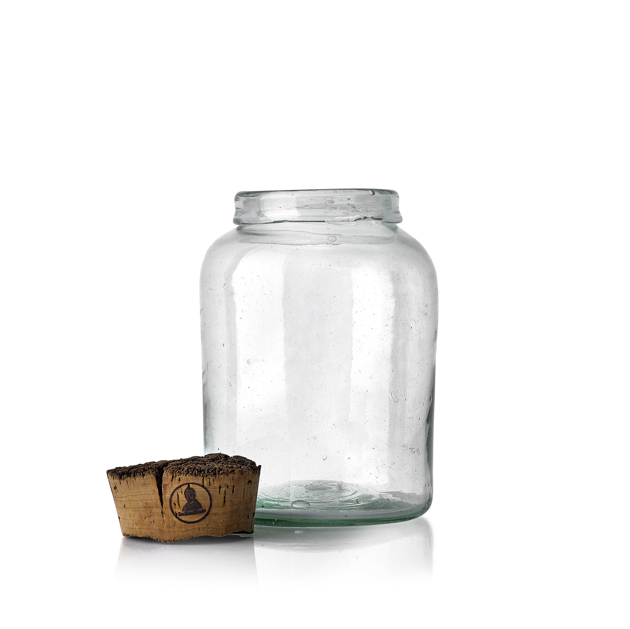 Handblown Glass Jar with Cork Lid