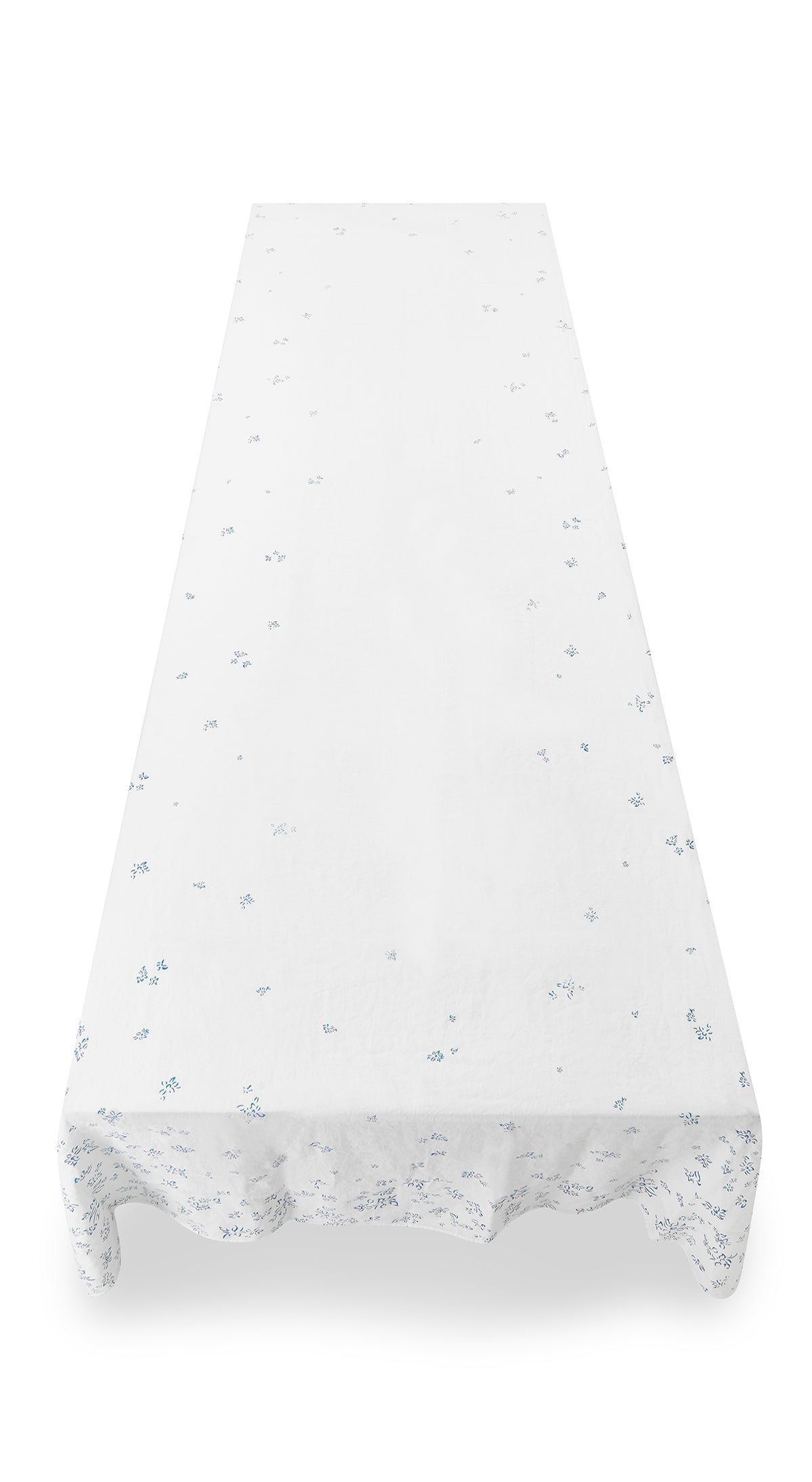 Bernadette's Falling Flower Linen Tablecloth in Light Blue