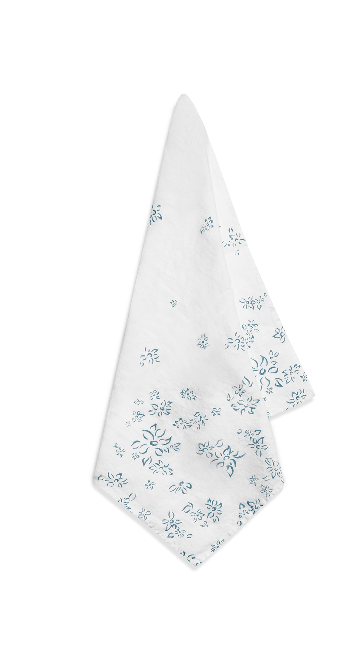 Bernadette's Falling Flower Linen Napkin in Light Blue