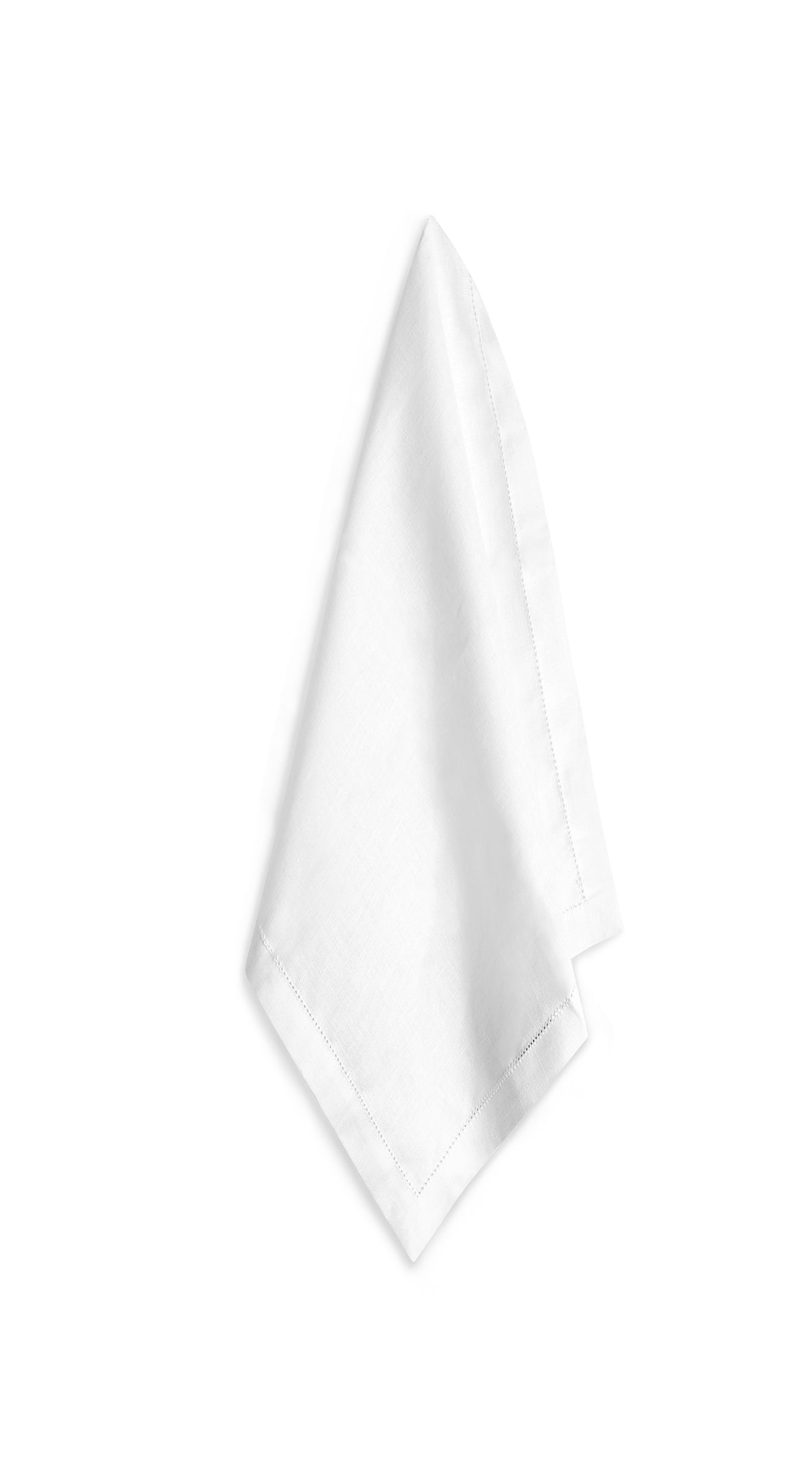 S&B Beautiful White Hemstitch Linen Napkin