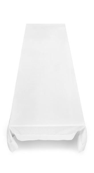 Edelweiss Linen & Cotton Mix Tablecloth in White