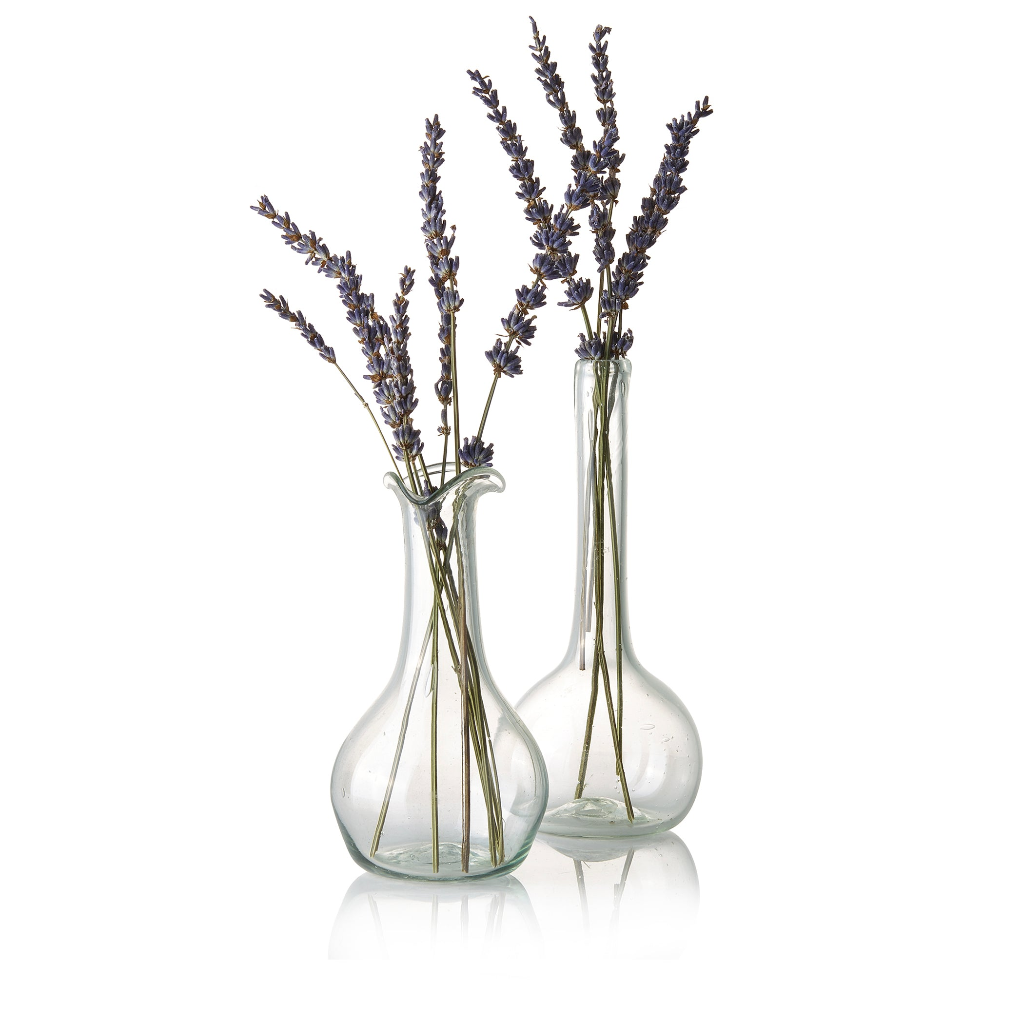 Handblown Glass Single Flower Vase with Long Neck, 19cm
