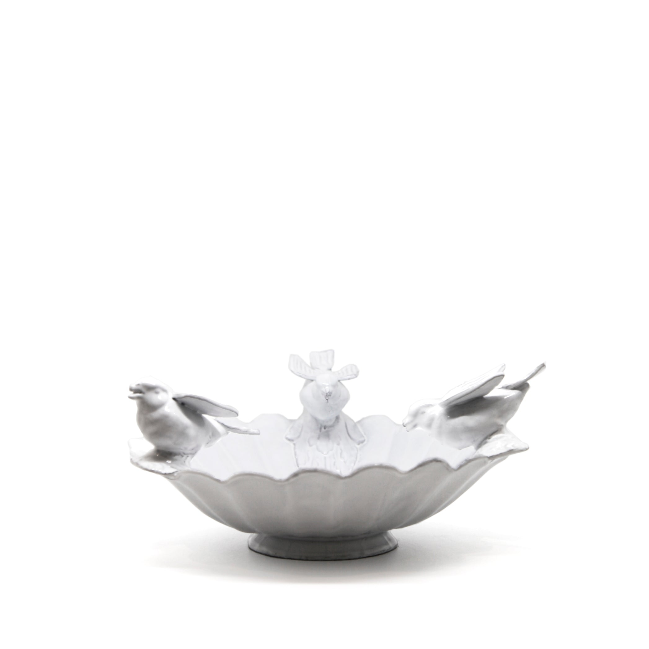 Marguerite Fruit Bowl with Three Birds by Astier de Villatte