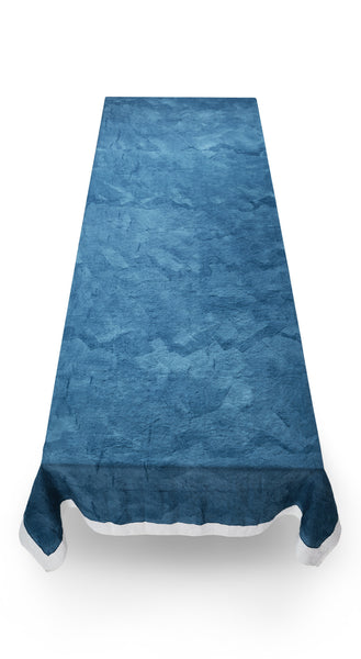 Full Field Linen Tablecloth in Midnight Blue