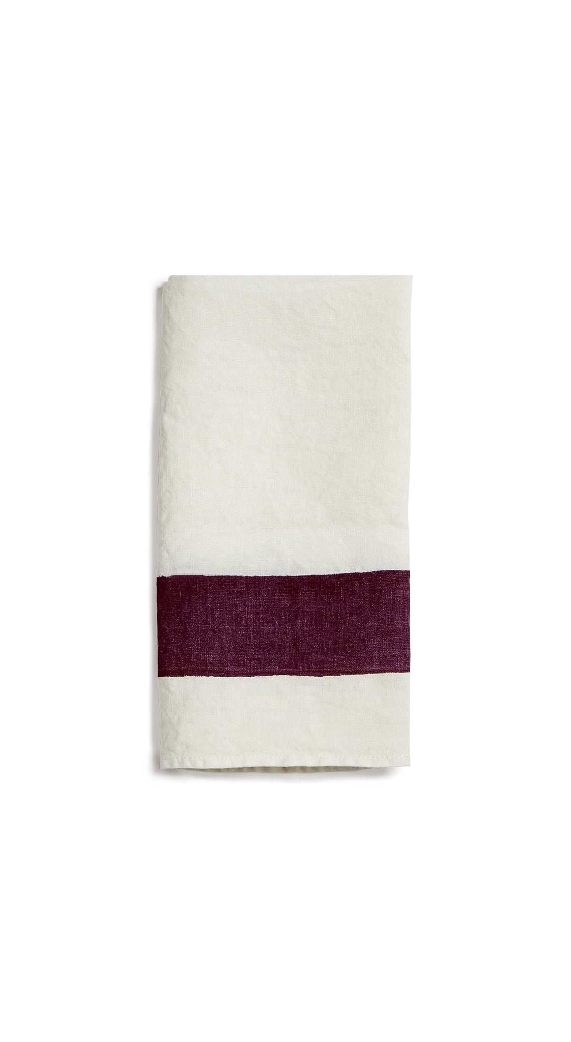 Cornice Linen Napkin in Grape Purple