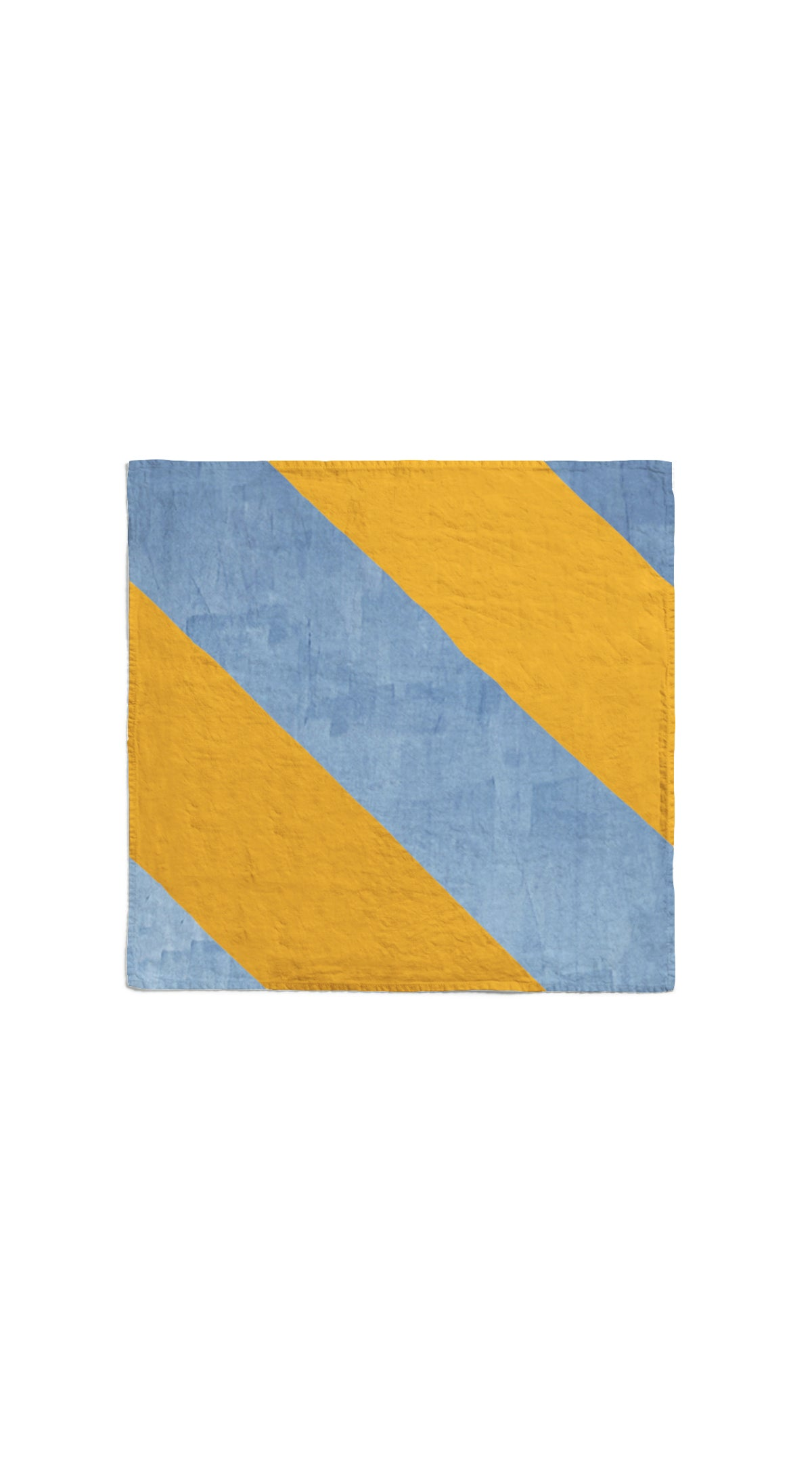 Stripe Linen Napkin in Mustard Yellow and Pale Blue