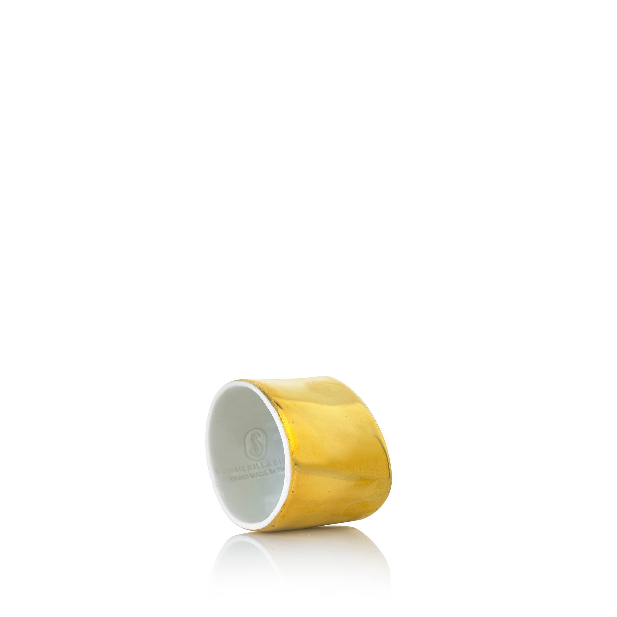 Porcelain Napkin Ring in Gold Glaze