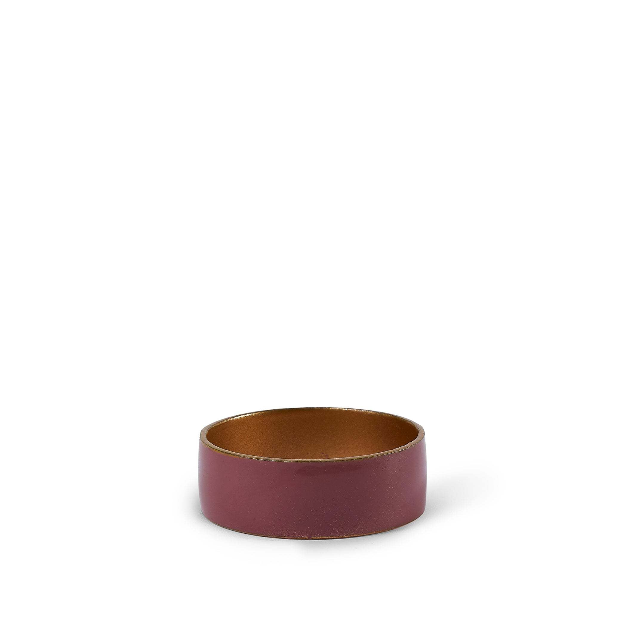 Enamelled Napkin Ring in Dark Purple