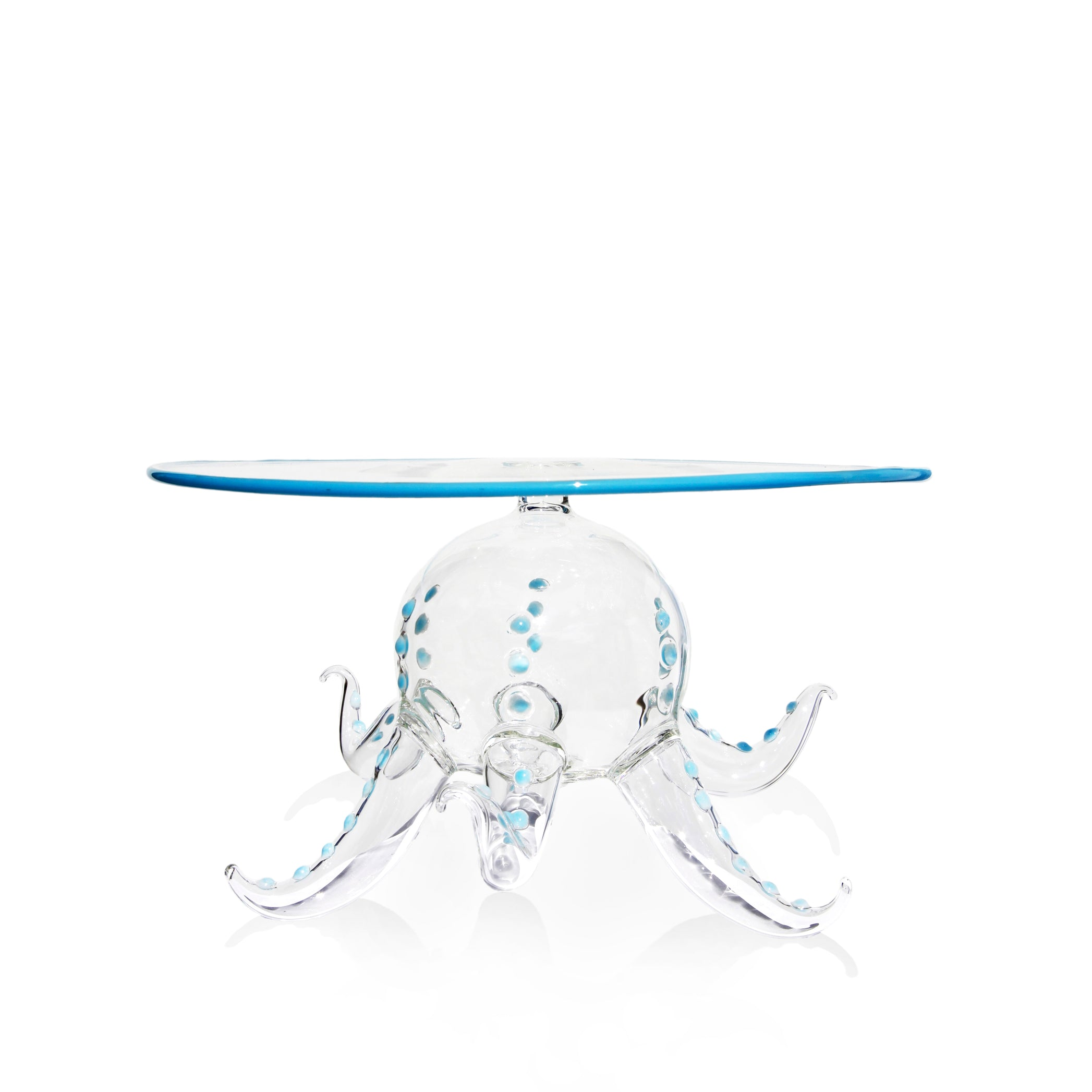 Handblown Glass Octopus Fruit Stand