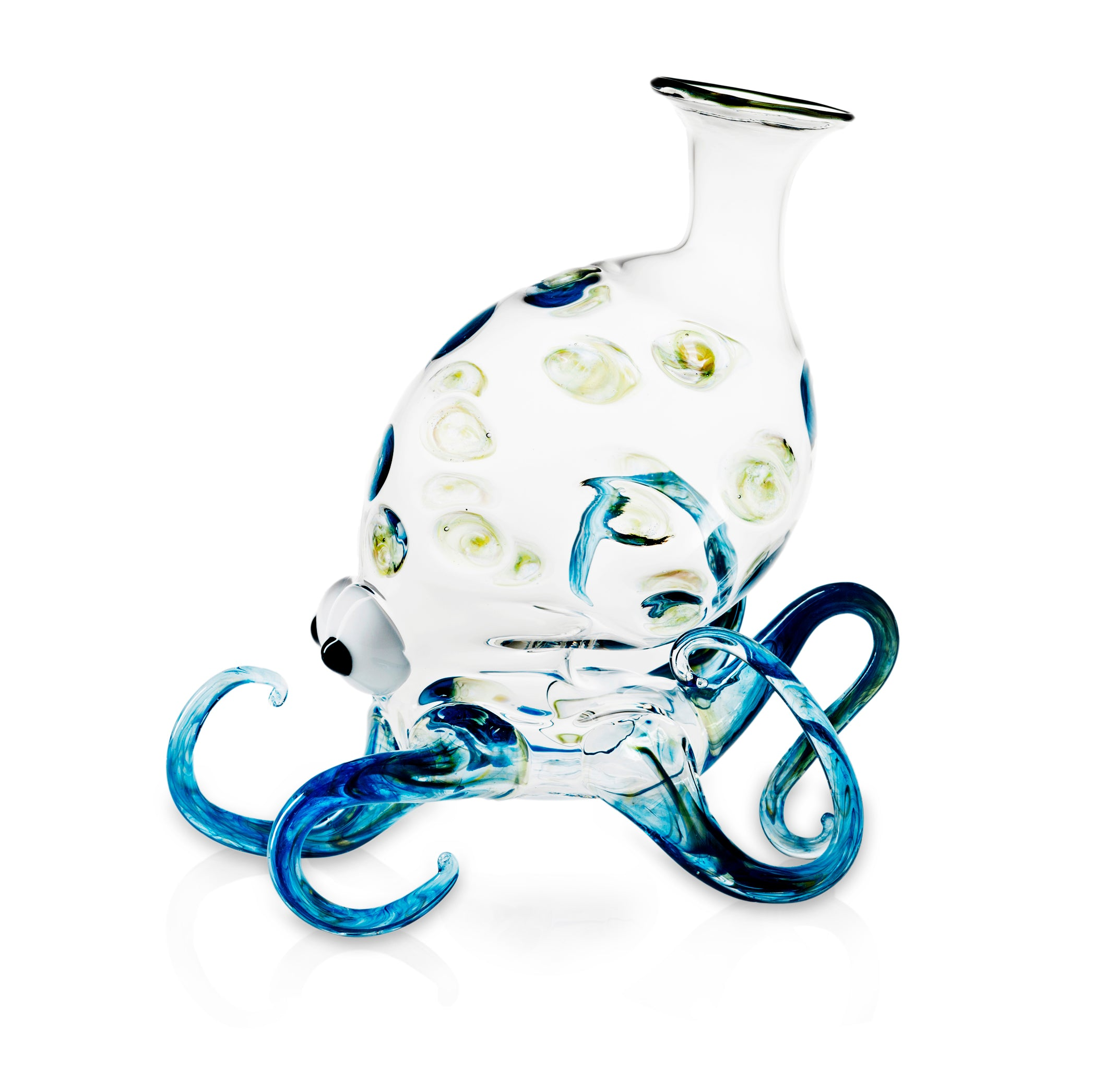 Handblown Glass Octopus Decanter
