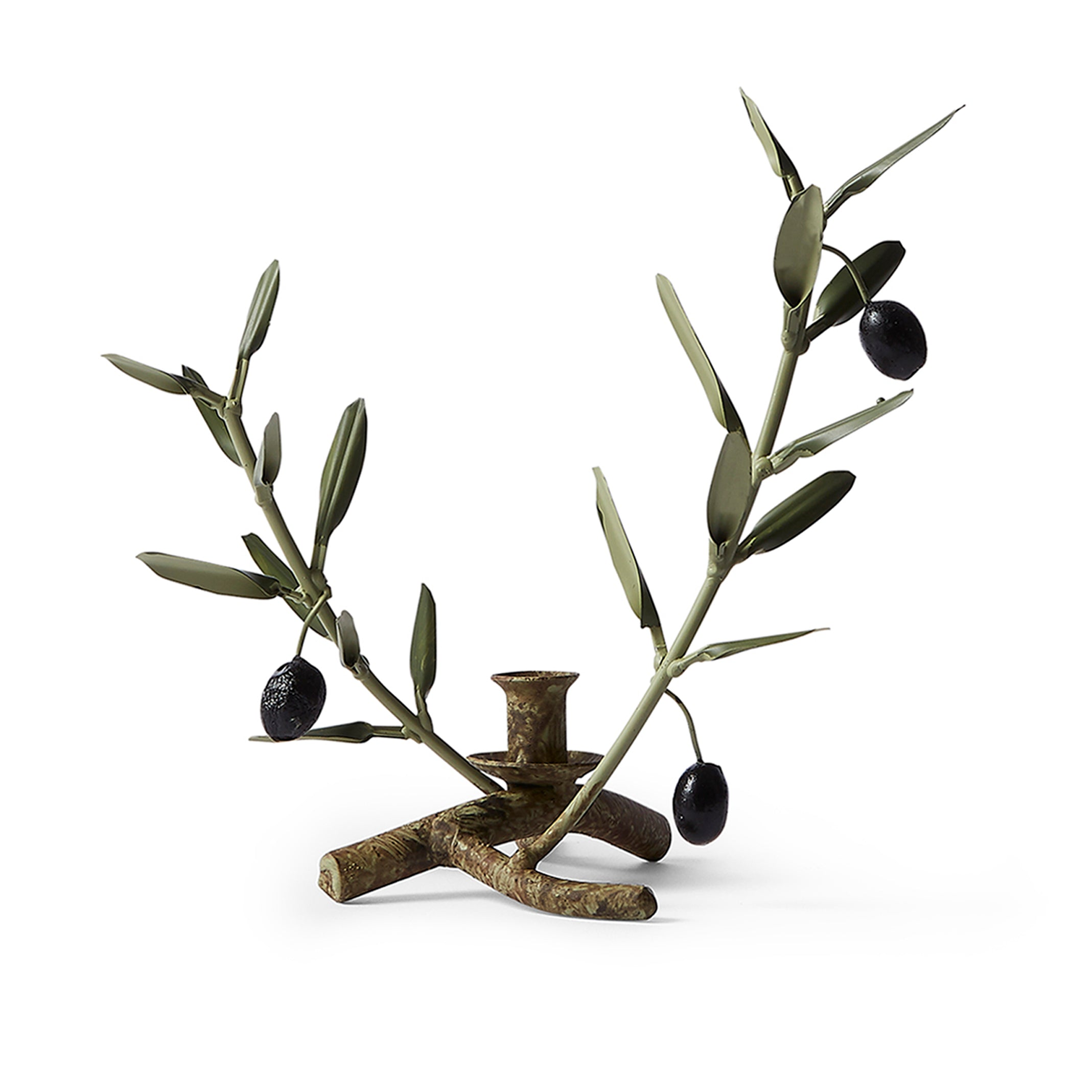 Olive Branch Tapered Candle Holder