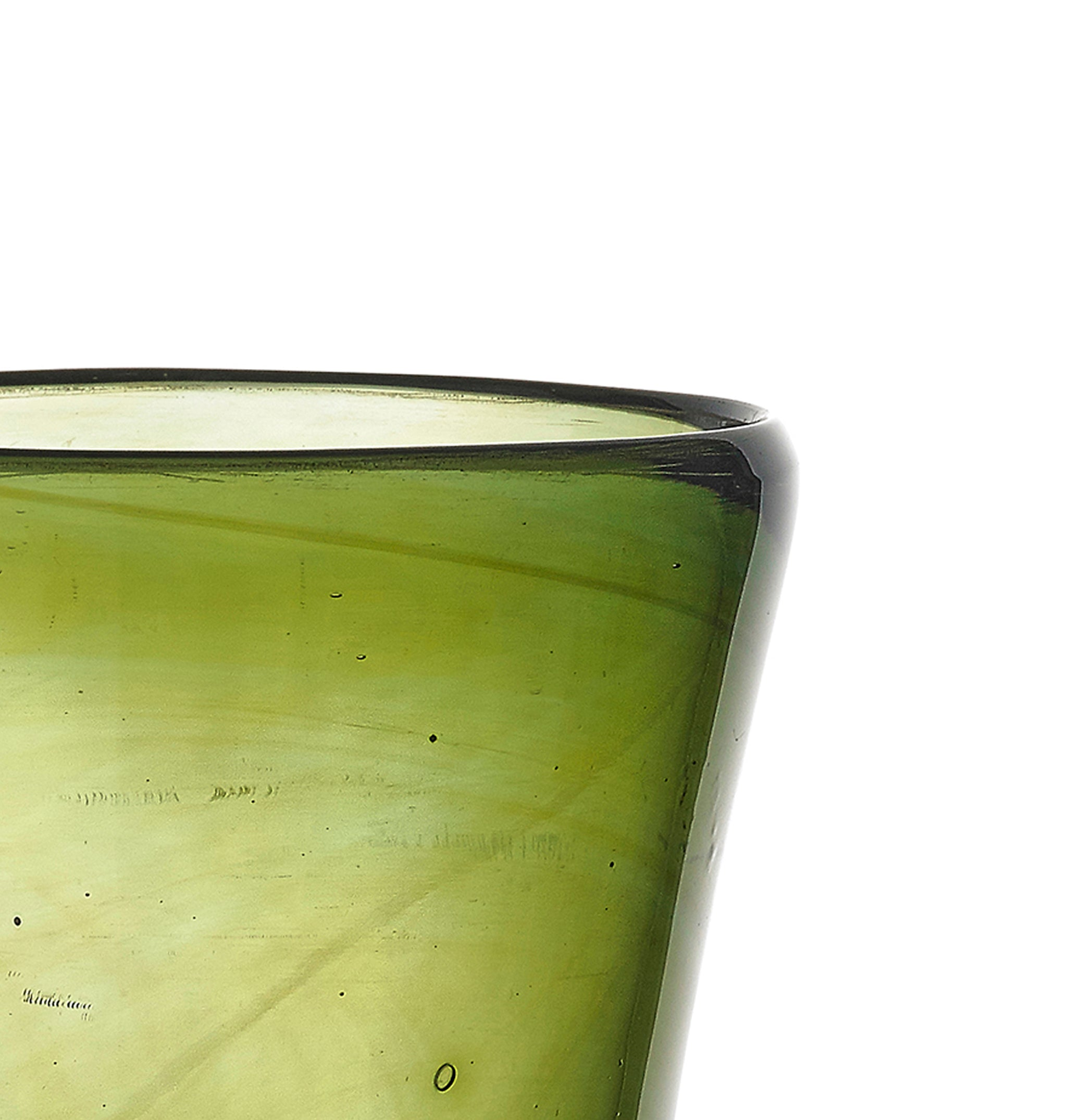 Handblown Glass Votive in Olive